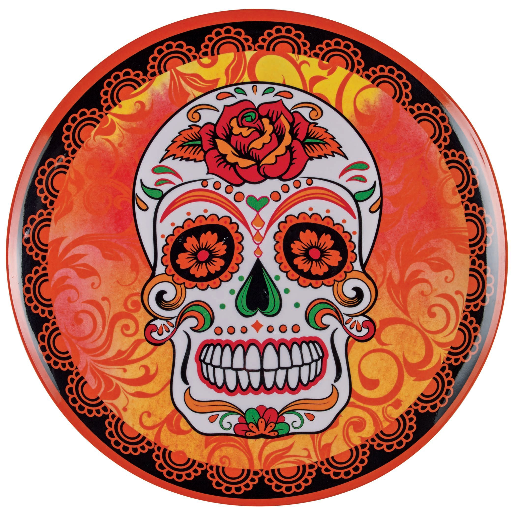 Cocinaware Orange Day Of The Dead Skull Melamine 11 in Dinner Plate - Shop Dishes at HEB  sc 1 st  HEB.com & Cocinaware Orange Day Of The Dead Skull Melamine 11 in Dinner Plate ...