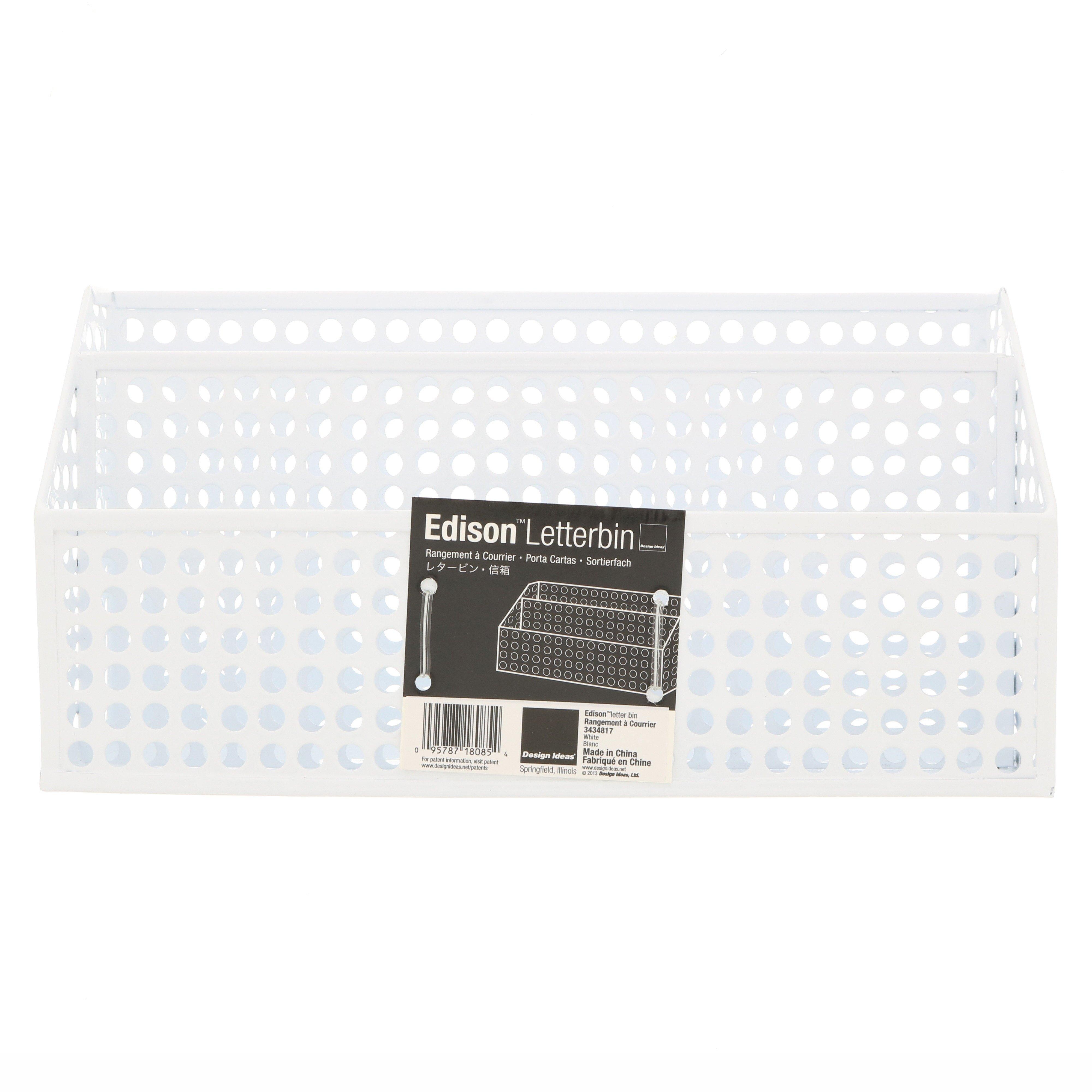 Design Ideas Edison Letter Bin White - Shop Storage and ...