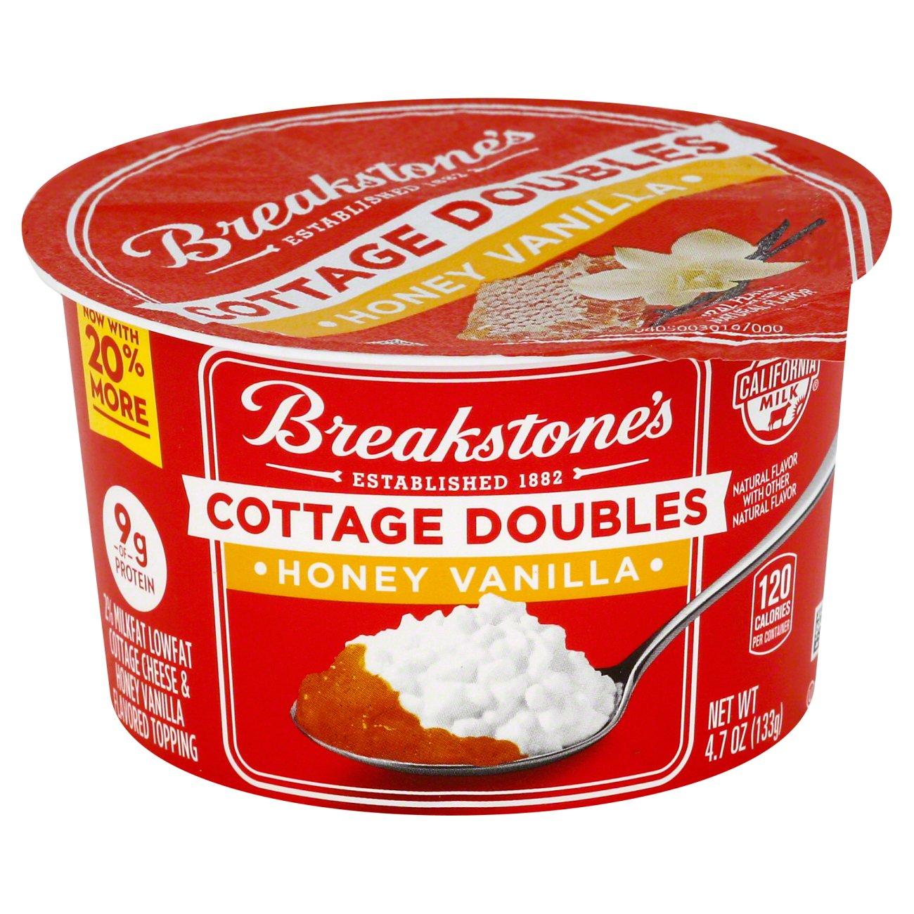 breakstone s cottage doubles honey vanilla shop cottage cheese at heb rh heb com breakstone's cottage cheese breakstones cottage cheese exp date