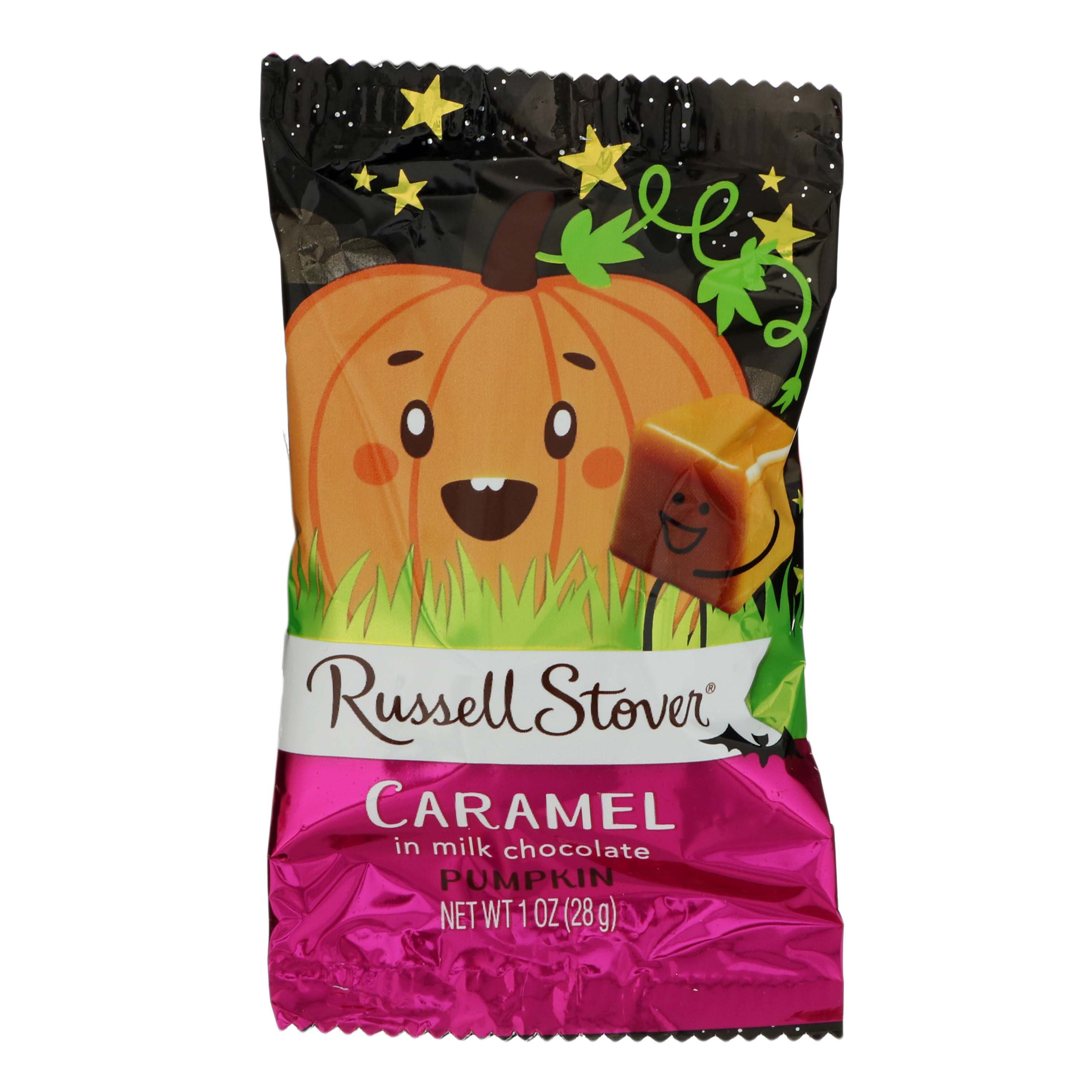 russell stover milk chocolate caramel pumpkin ‑ shop candy at h‑e‑b