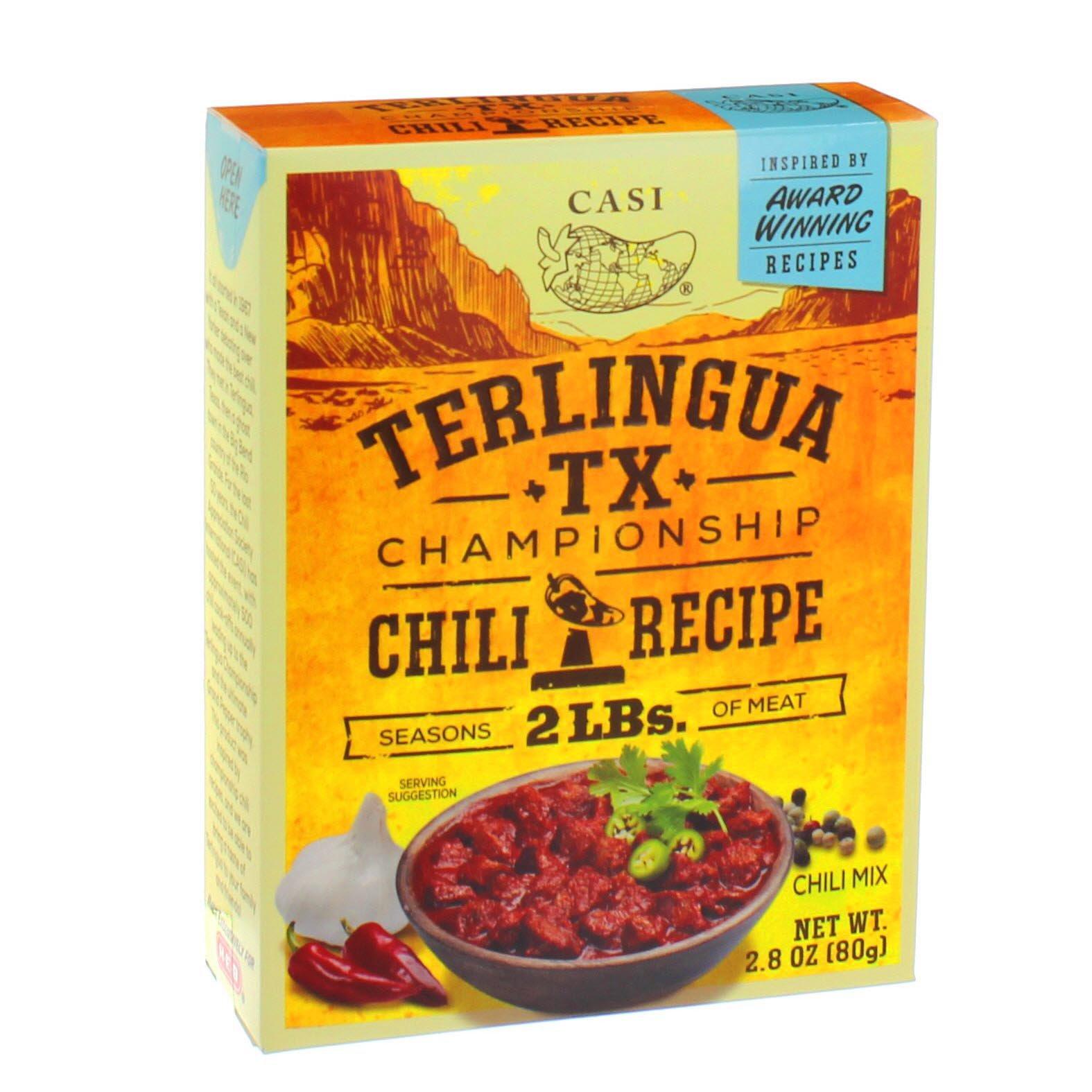 Casi Terlingua Tx Championship Chili Recipe Mix Shop Soups Chili At H E B
