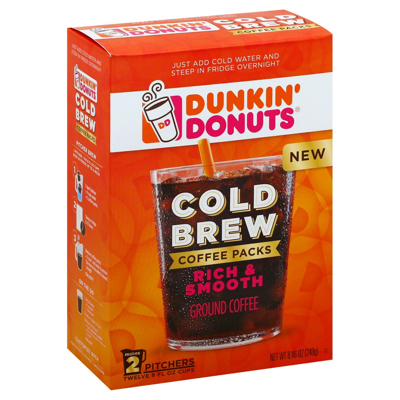 Dunkin' Donuts Cold Brew Coffee - Shop Coffee at H-E-B