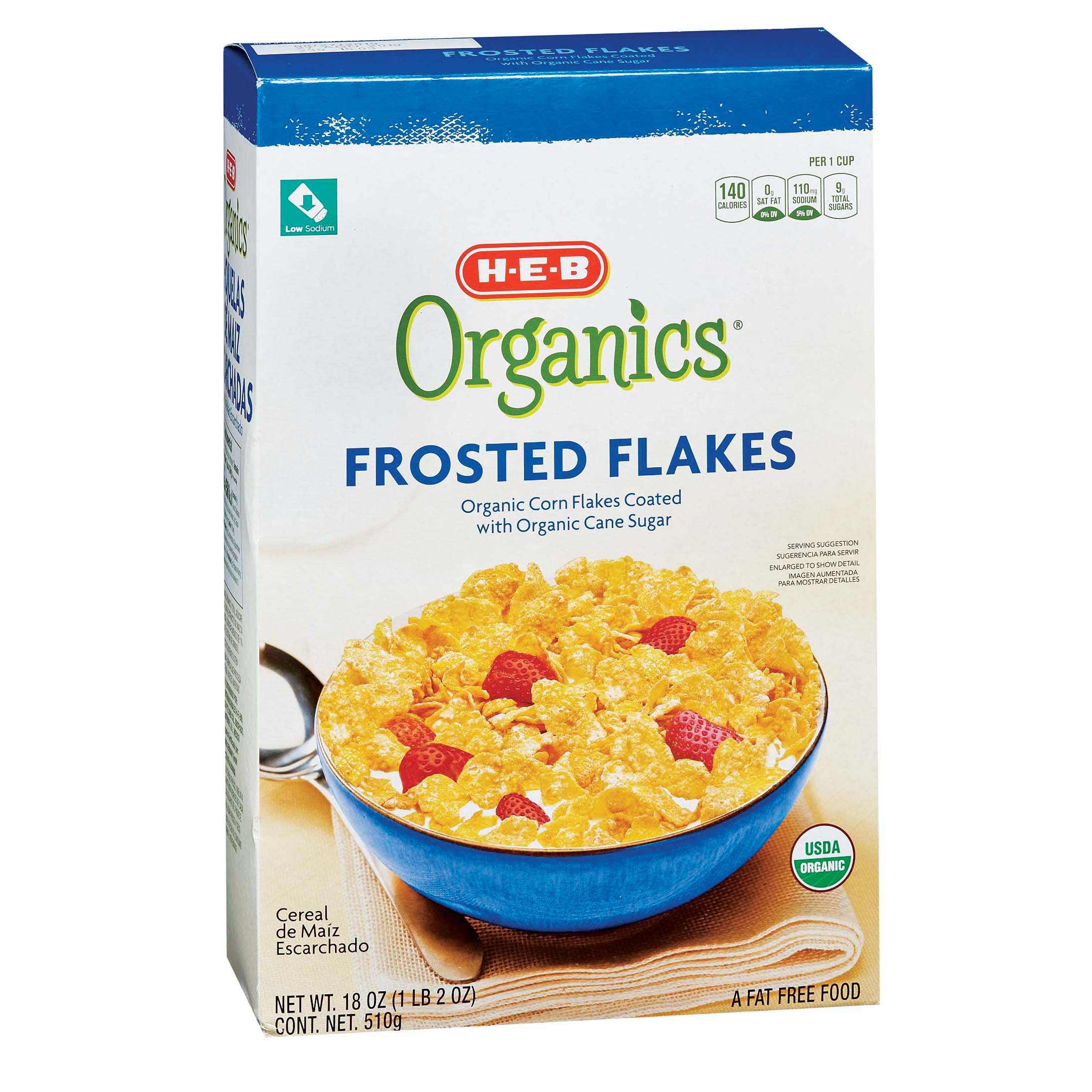 H E B Organics Frosted Flakes Shop Cereal At H E B