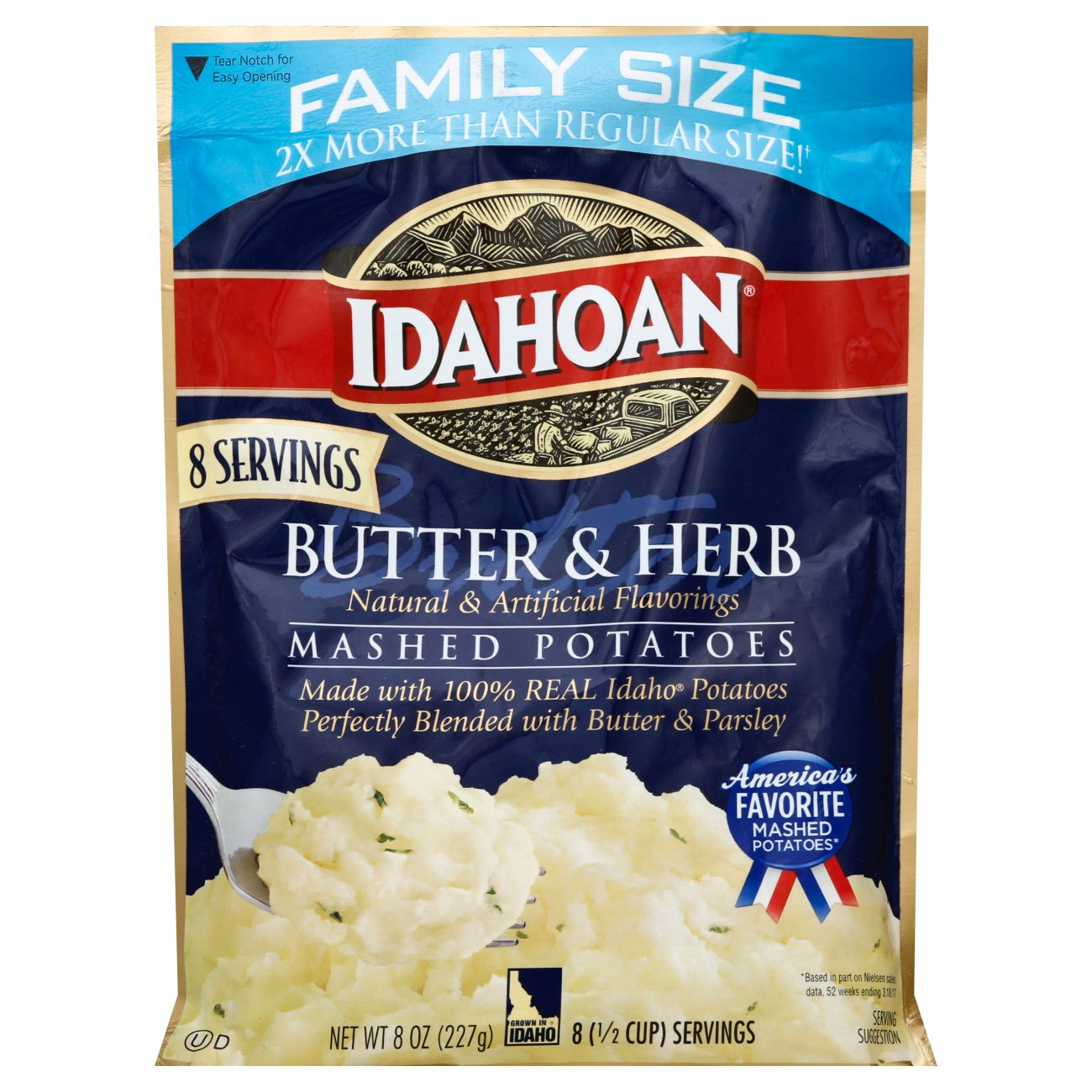 idahoan butter and herb instant mashed potatoes