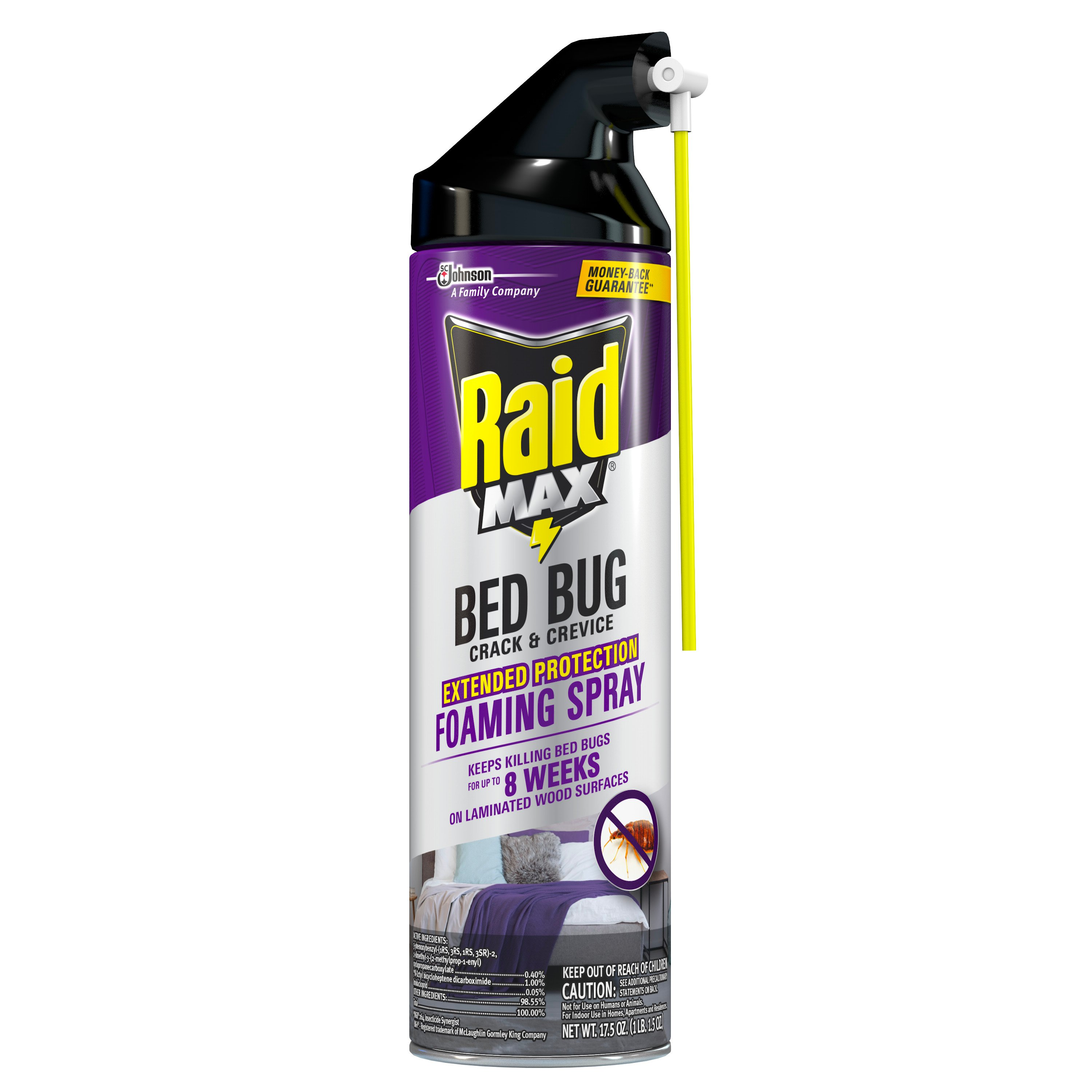 Raid Max Bed Bug Crack Crevice Extended Protection Foaming Spray Shop Insect Killers At H E B