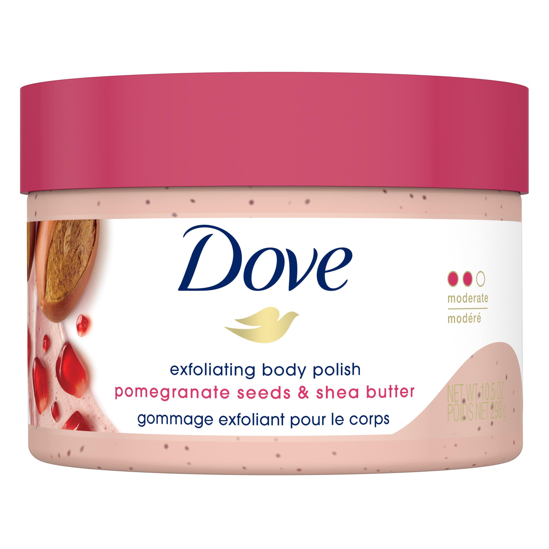 Dove Exfoliating Body Polish Pomegranate Seeds Shea Butter Shop Body Scrubs At H E B