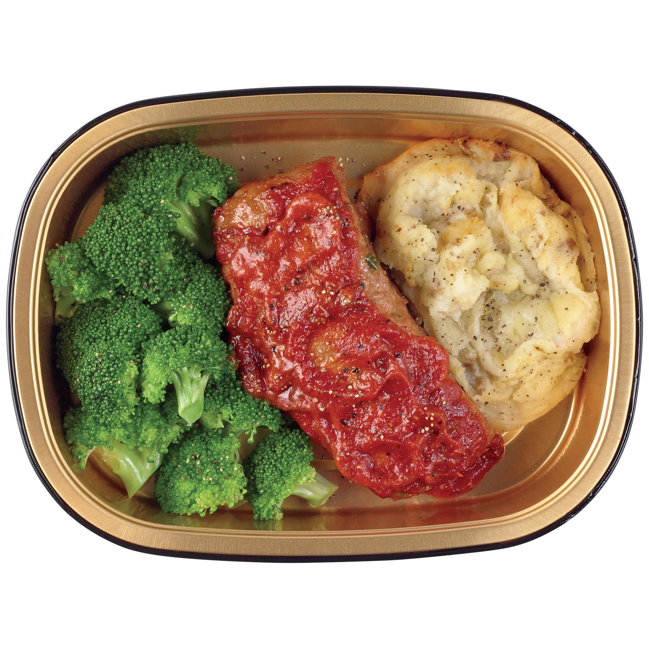 heb meal simple homestyle meatloaf mashed potato and broccoli shop meal simple at heb
