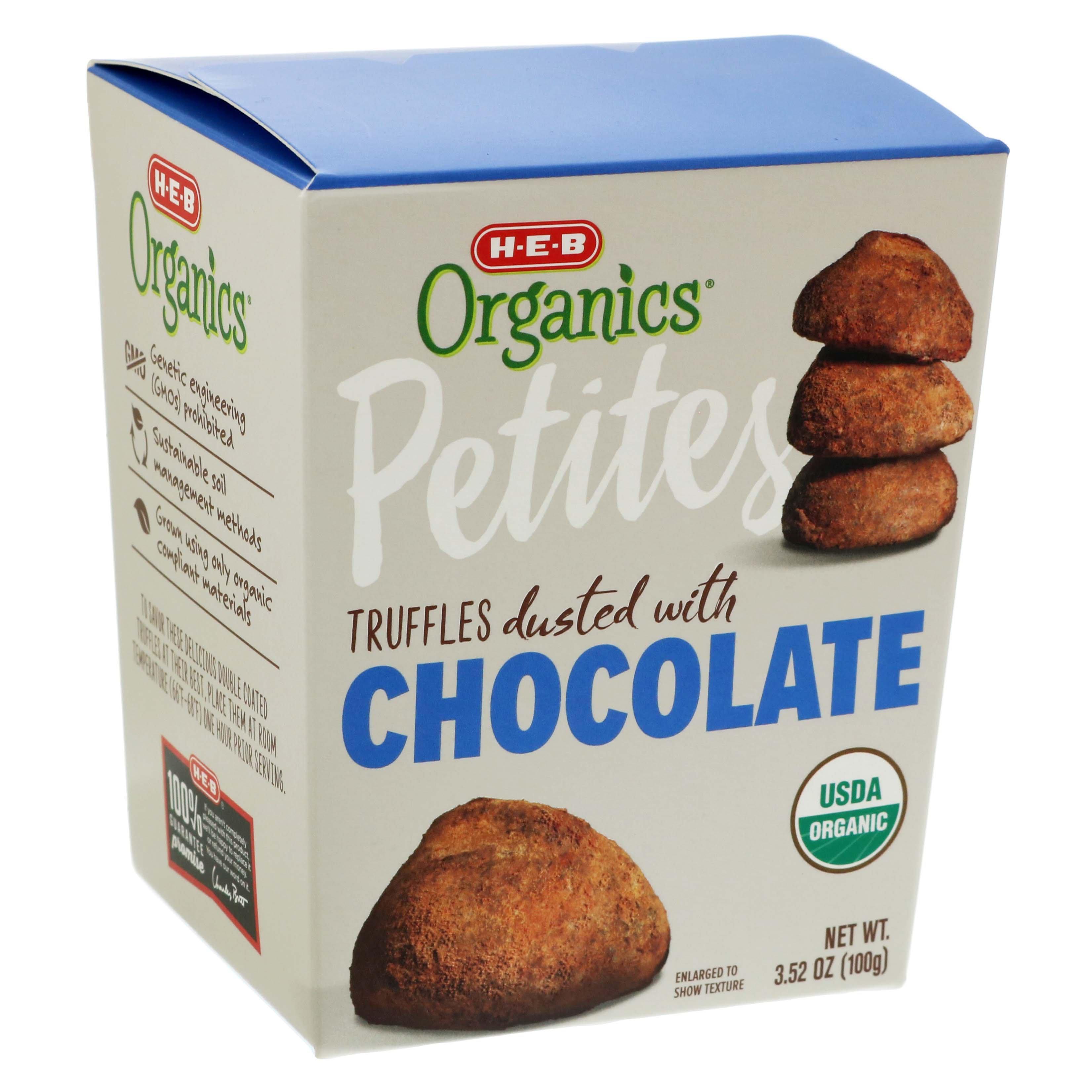 H‑E‑B Organic Chocolate Truffles ‑ Shop Candy at H‑E‑B