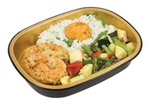 heb meal simple shrimp cake with cajun rice and green beans shop meal simple at heb