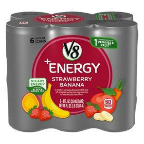 V8 +Energy Strawberry Banana 8 oz Cans