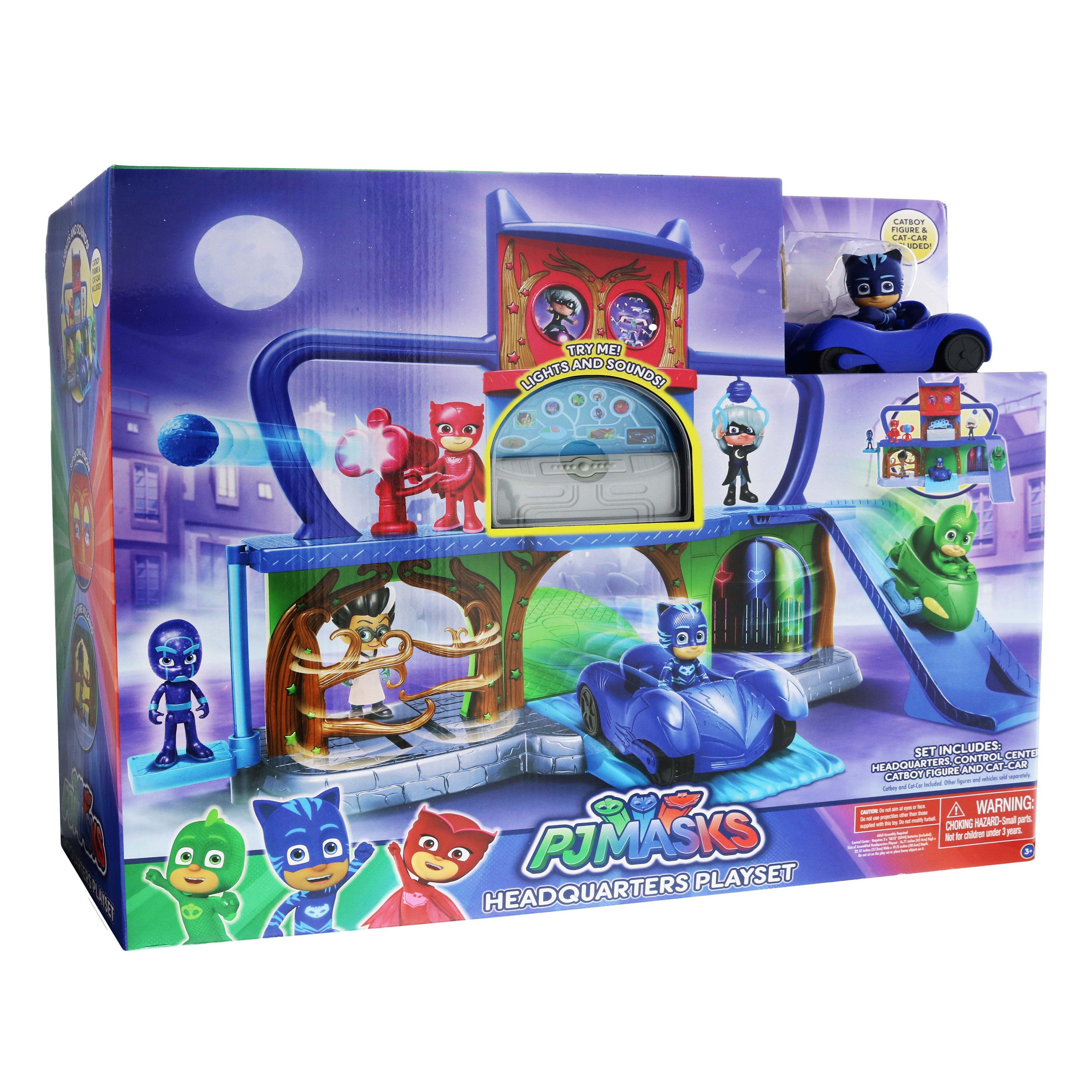 Cat Boy Cat Car Action Figure PJ Masks Headquarters Playset Toy Set