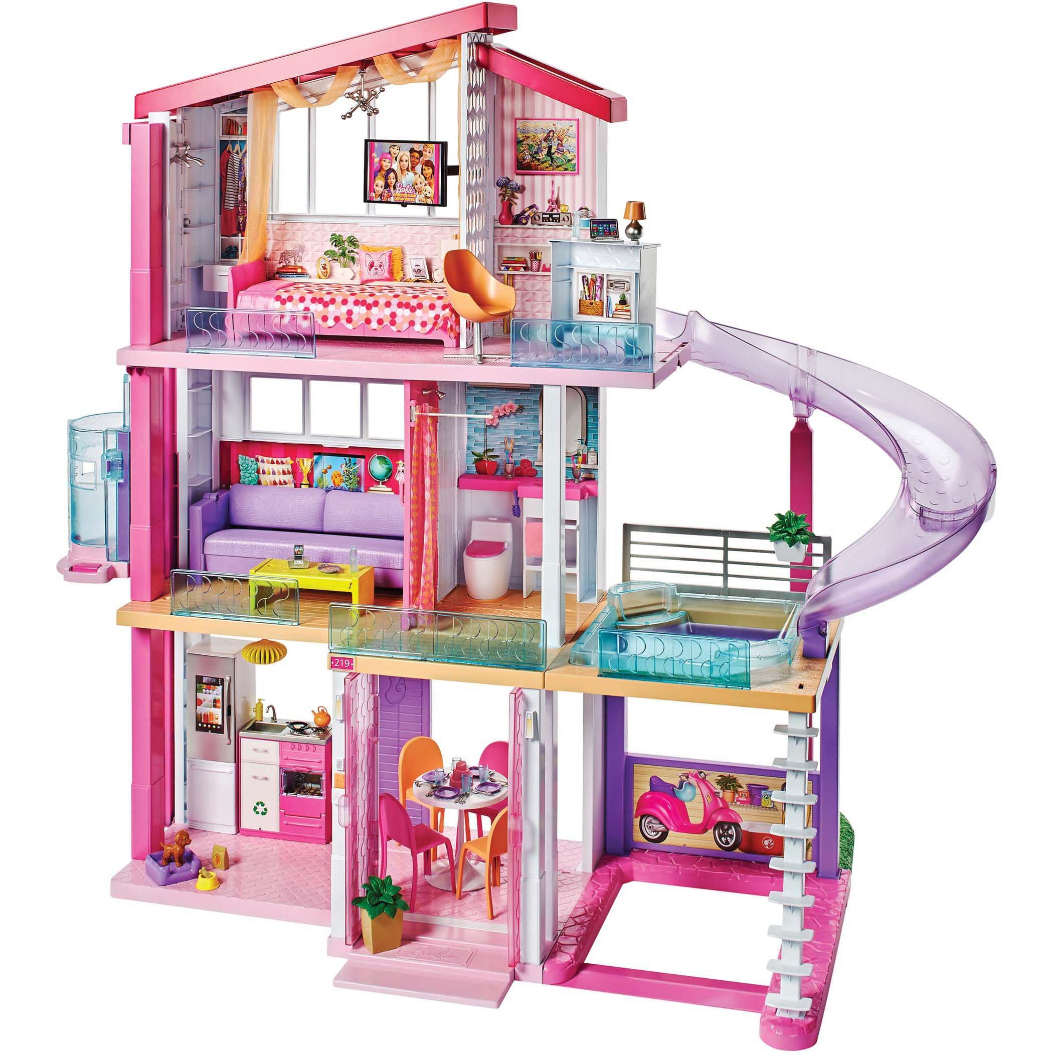 Mattel Barbie Dream House Dollhouse Shop Playsets At H E B