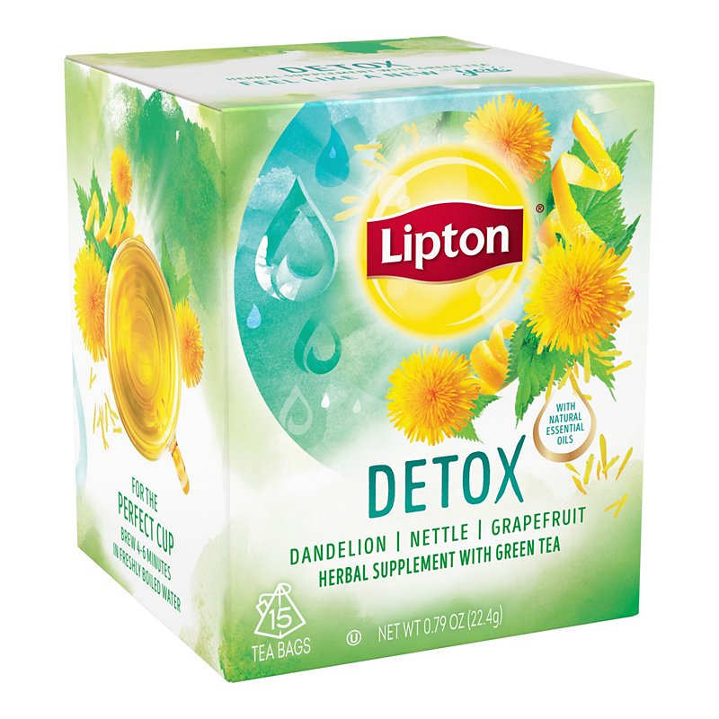 Herbal Detox Tea 20 Tea Bags | Detox Cleansing | PipingRock Health Products