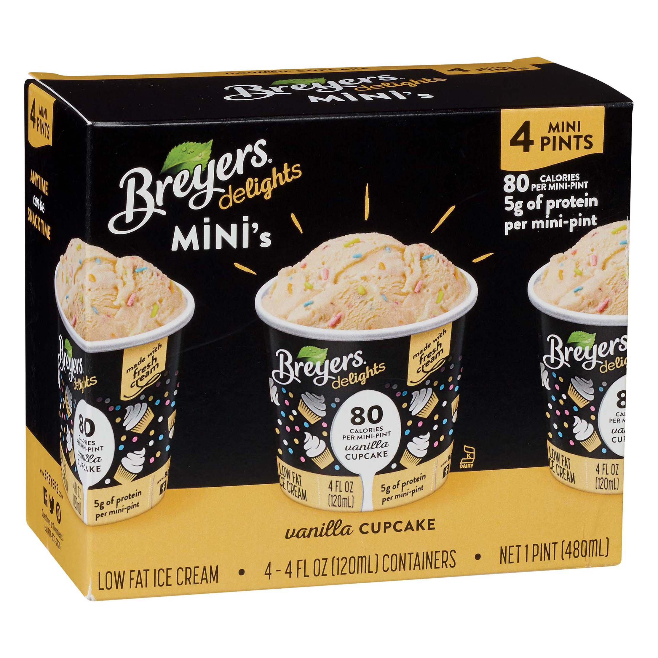 Awesome Breyers Delights Minis Vanilla Cupcake Low Fat Ice Cream Cups Funny Birthday Cards Online Alyptdamsfinfo