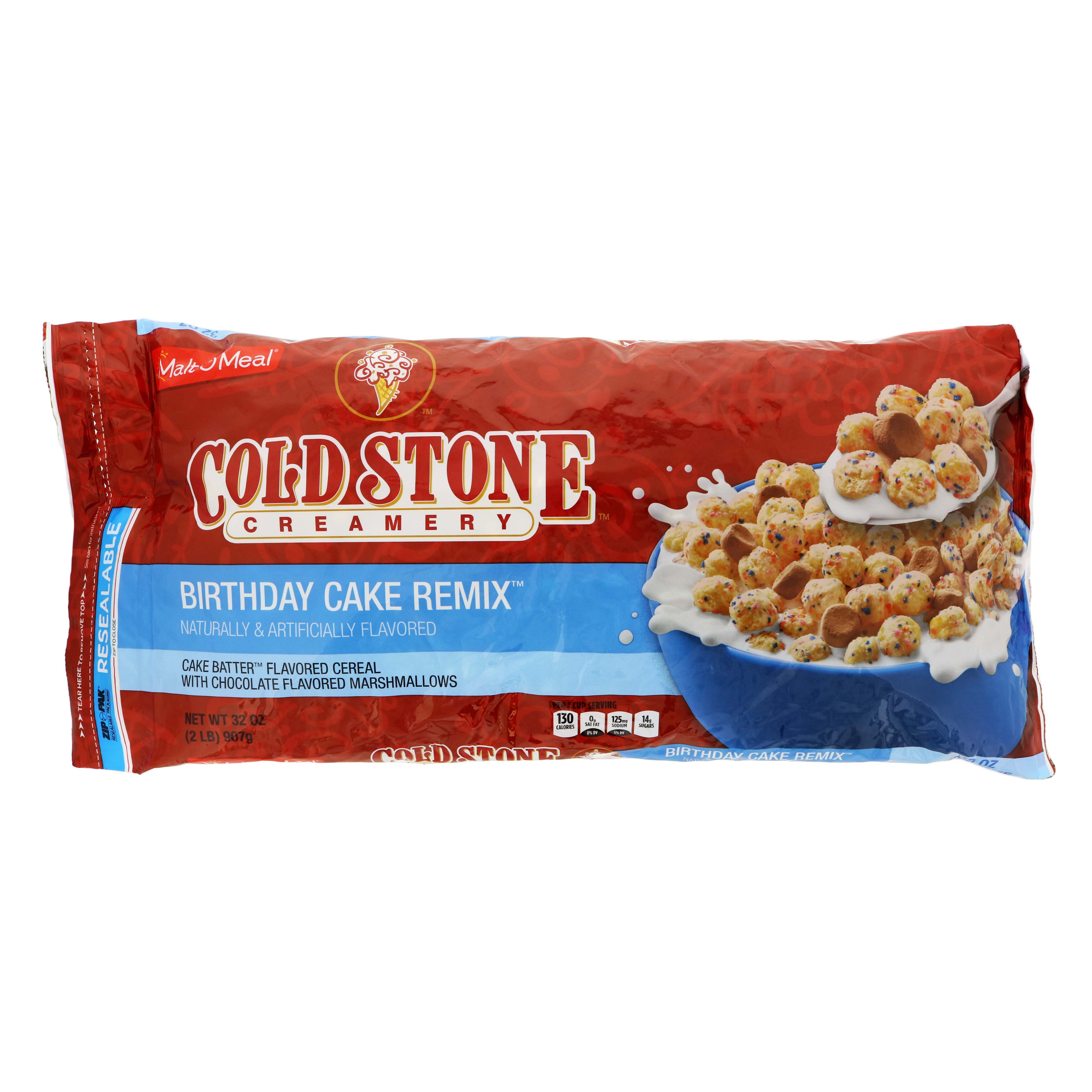 Surprising Malt O Meal Cold Stone Birthday Cake Remix Cereal Shop Cereal At Funny Birthday Cards Online Elaedamsfinfo