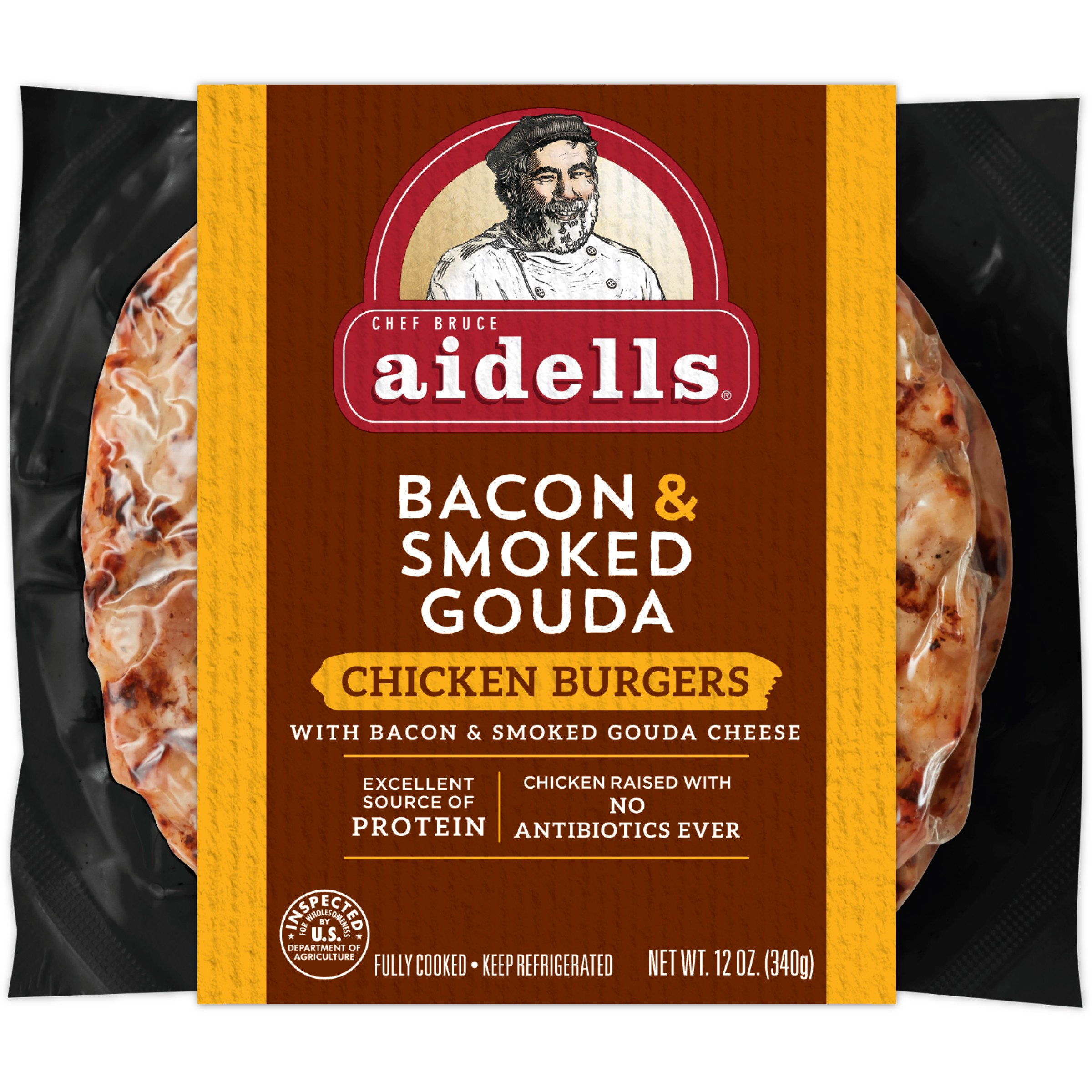 Aidells Bacon And Gouda Chicken Burgers Shop Chicken At H E B