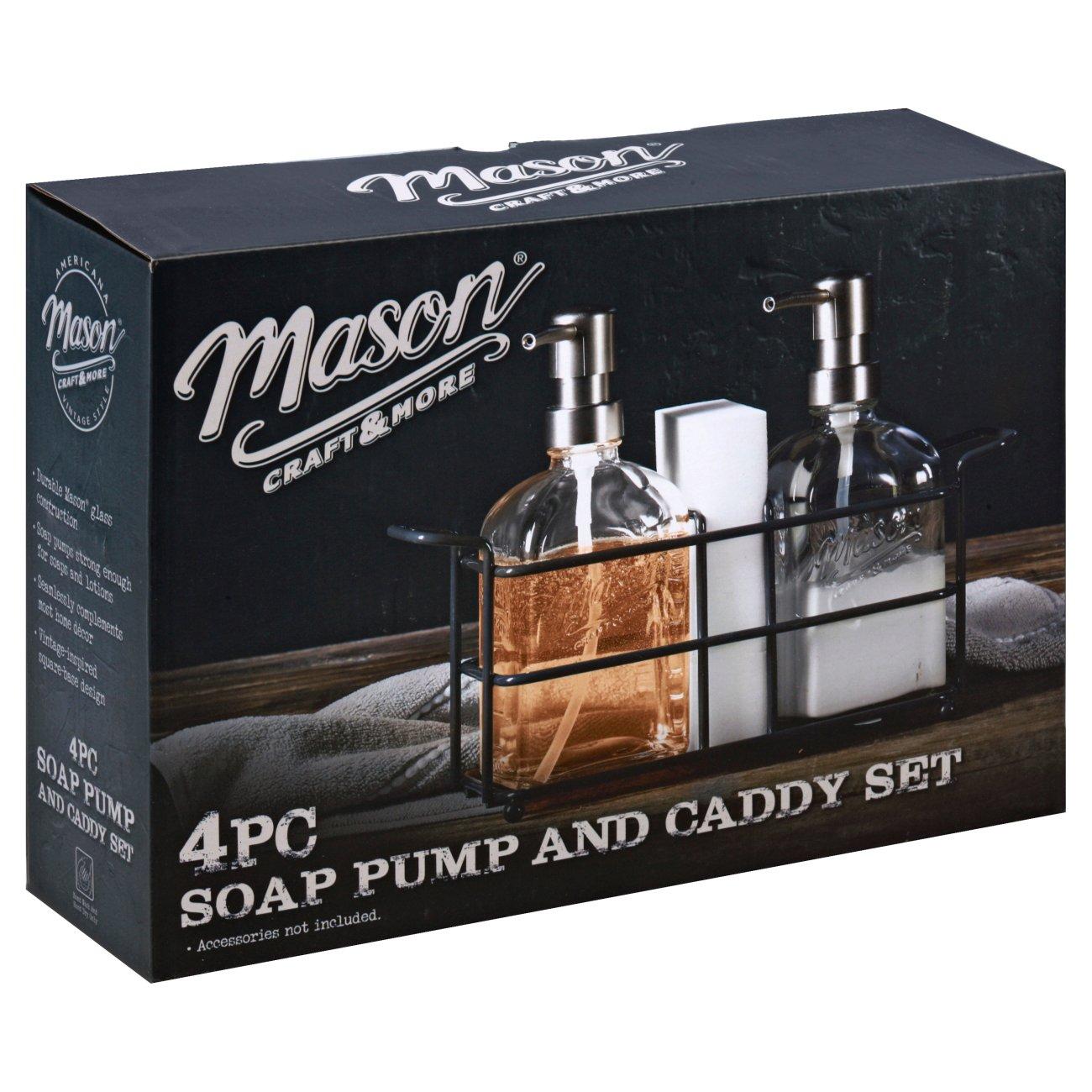 Mason Craft More Soap Dispenser Set Shop Sink Kitchen Organizers At H E B
