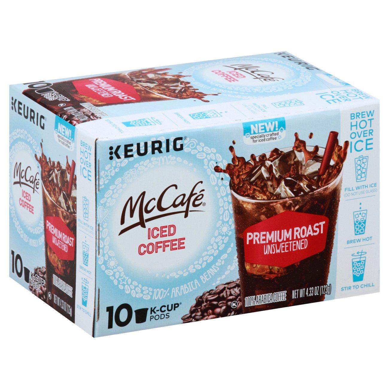 McCafe Keurig Ice Coffee Premium Roast Unsweetened Single Serve Coffee K Cups ‑ Shop Coffee at H‑E‑B