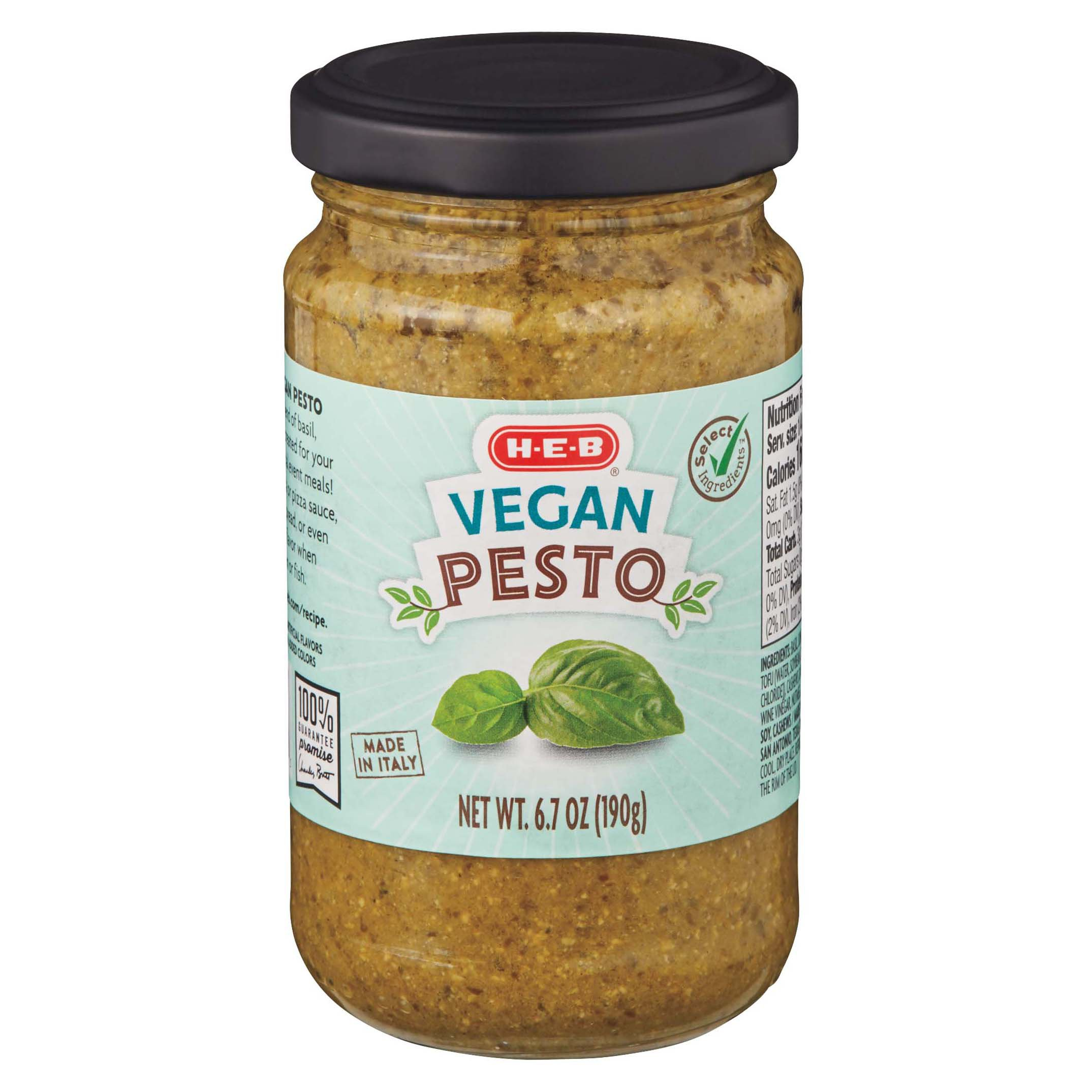 H E B Select Ingredients Vegan Pesto Shop Pasta Sauces At H E B