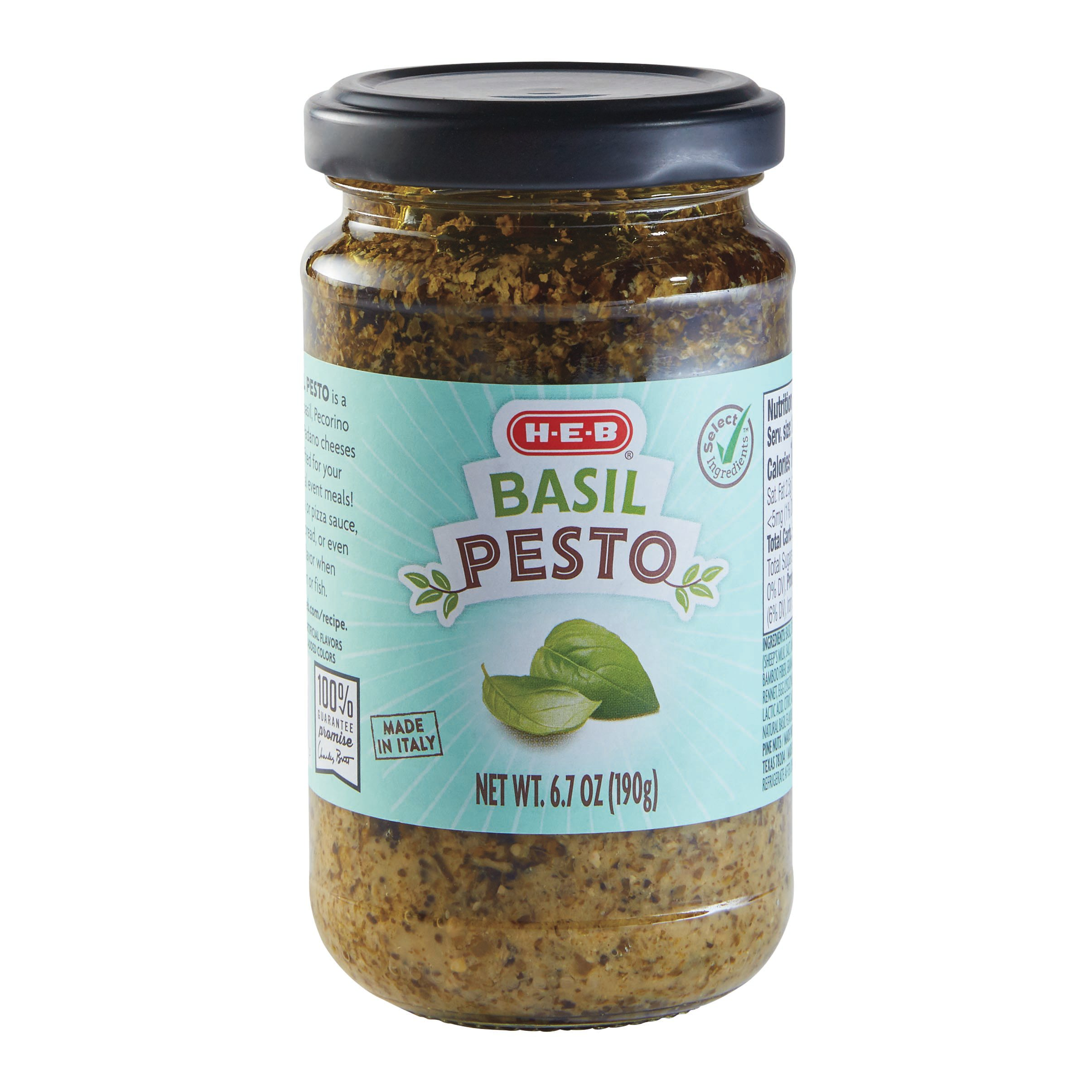 H E B Select Ingredients Basil Pesto Shop Pasta Sauces At H E B
