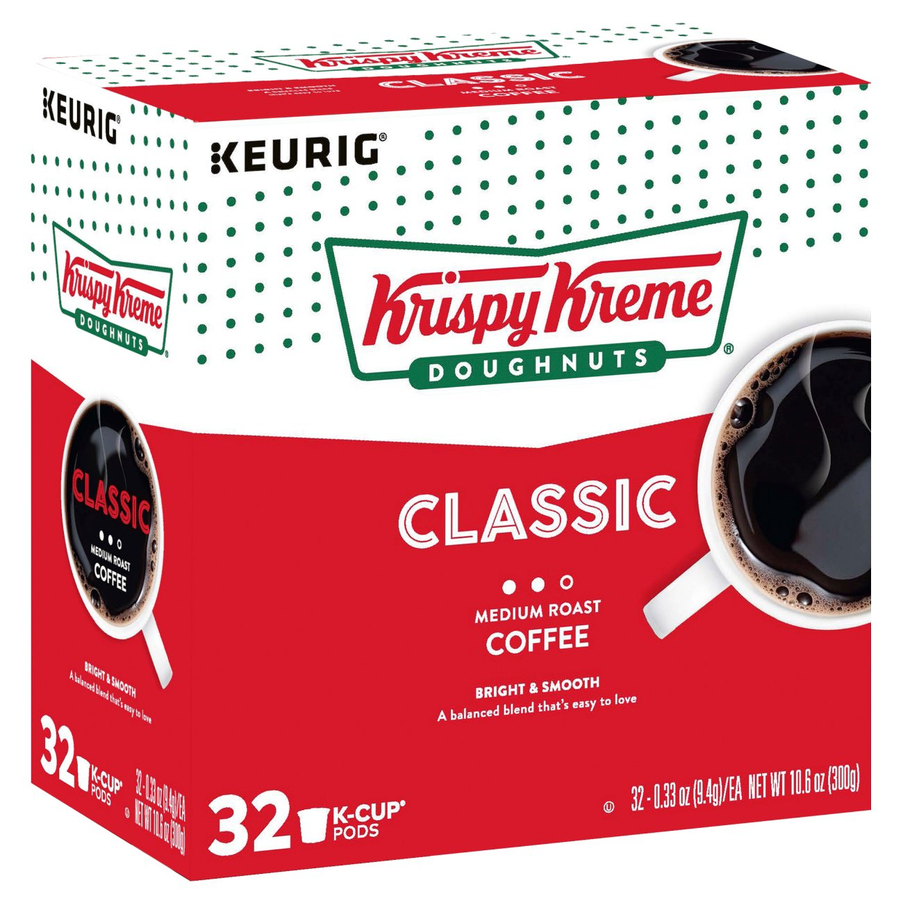 Krispy Kreme Doughnuts Smooth Light Roast Single Serve Coffee K Cups ...