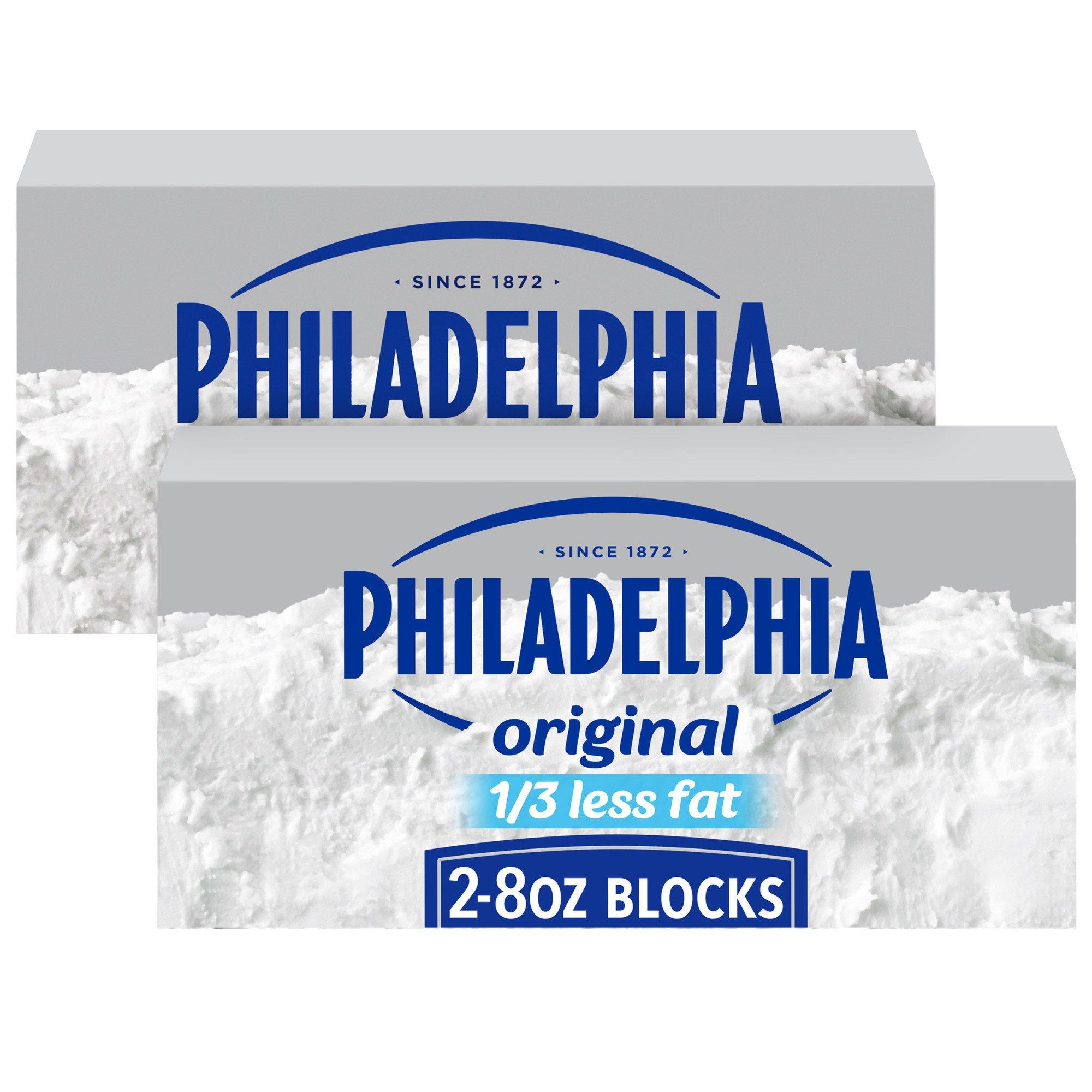 Kraft Philadelphia 1 3 Less Fat Cream Cheese Shop Cheese At H E B