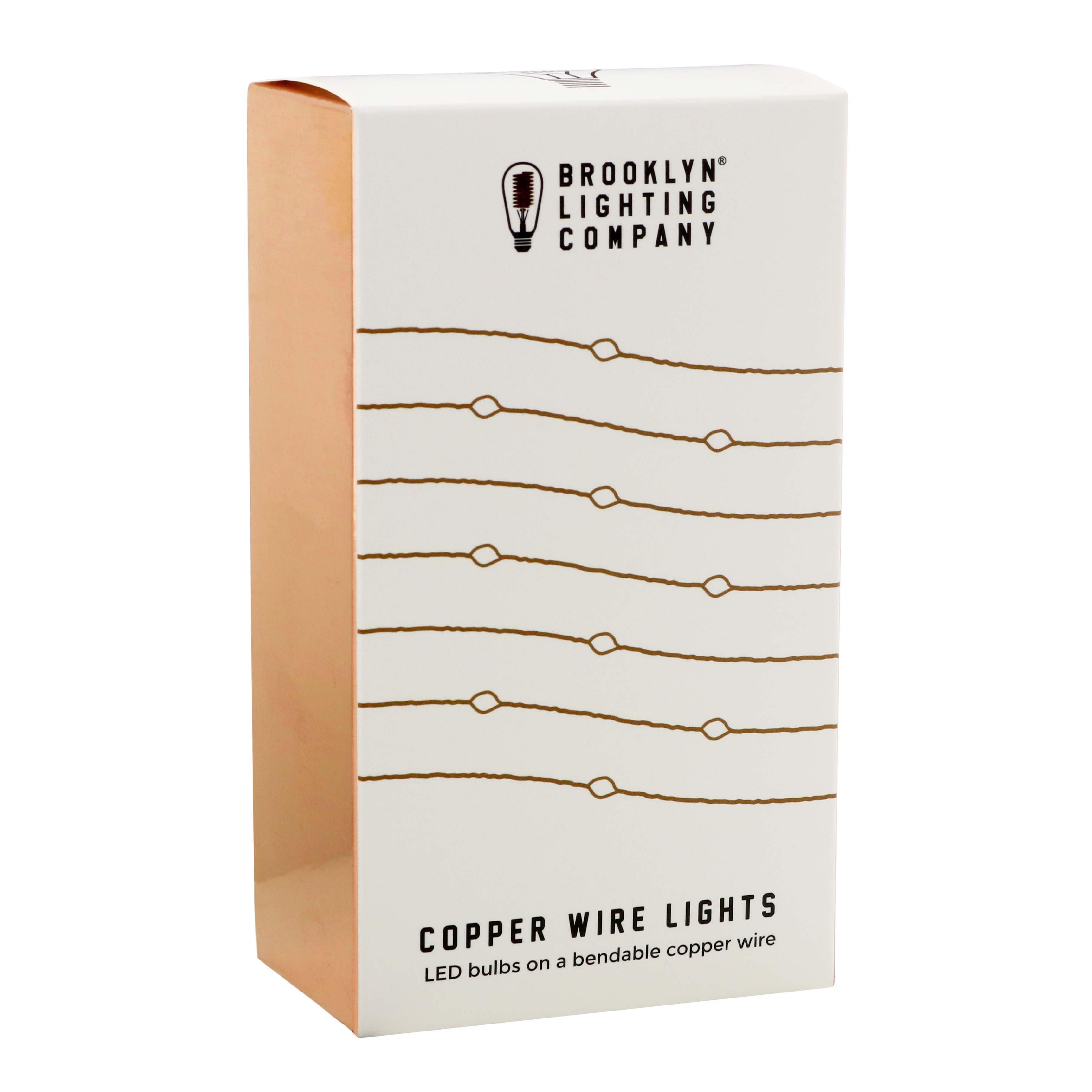 Brooklyn Lighting Company Copper Wire Lights