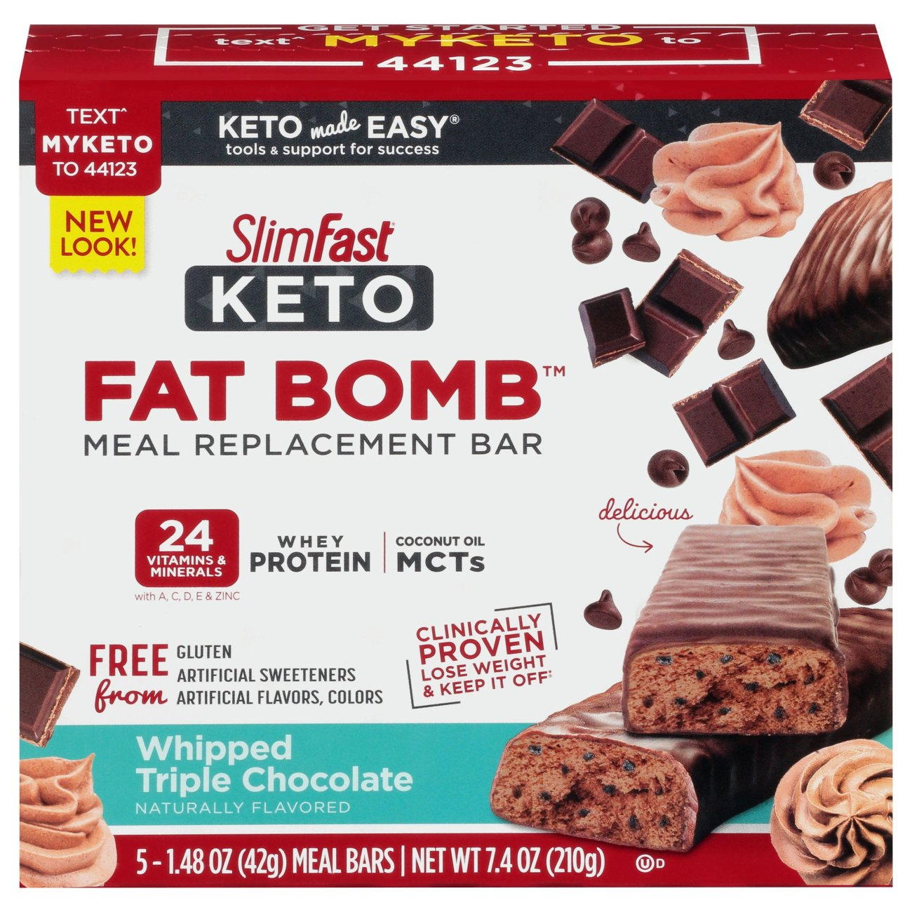 Slimfast Keto Whipped Triple Chocolate Meal Bar Shop Diet Fitness At H E B