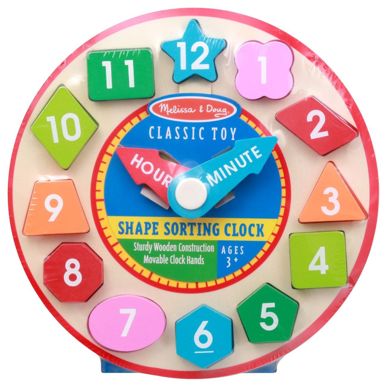 Melissa & Doug Wooden Shape Sorting Clock - Shop Puzzles ...