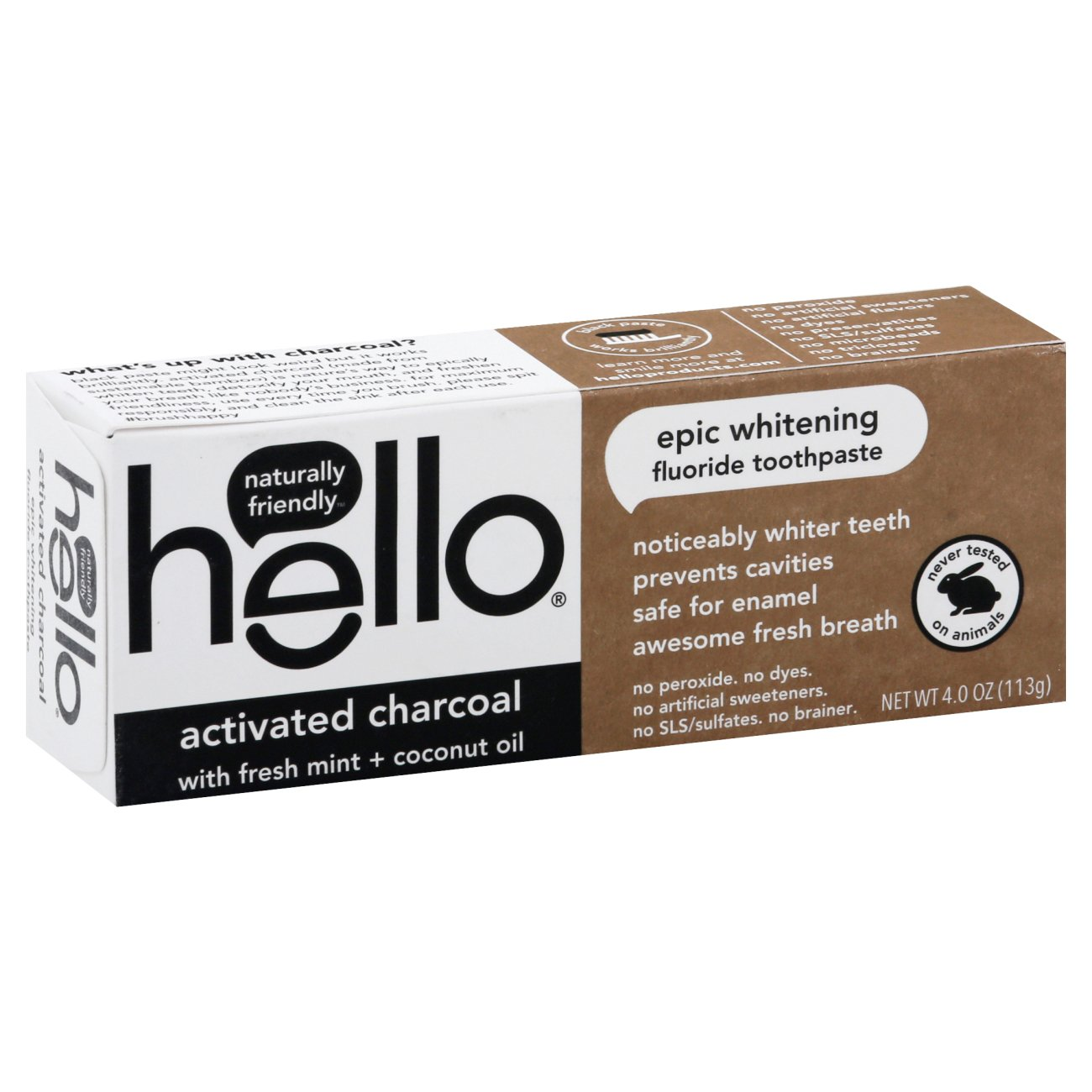Hello Activated Charcoal With Fresh Mint Toothpaste Shop