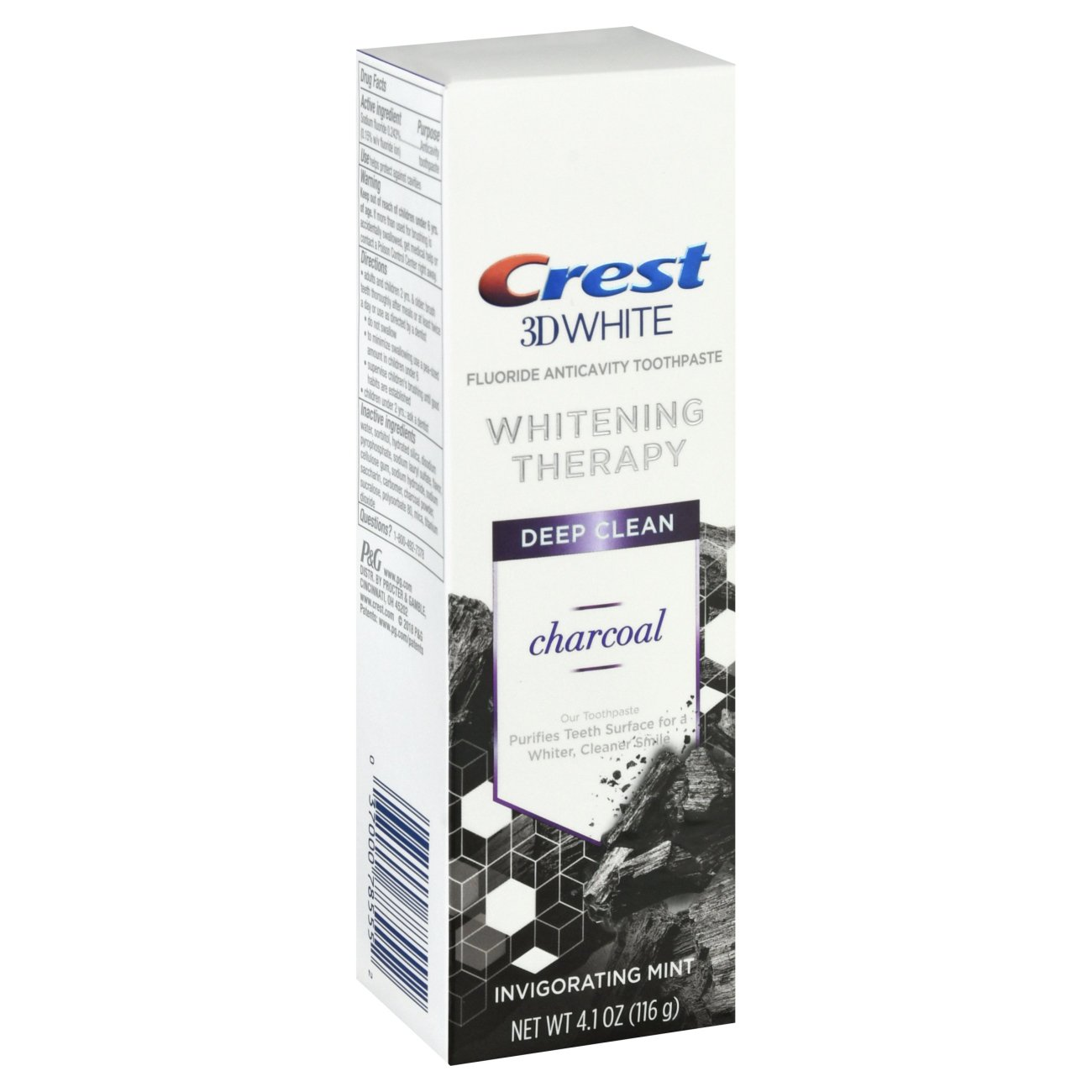 Crest 3d White Whitening Therapy Charcoal Deep Clean Fluoride