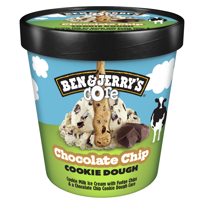 Ben Jerry S Chocolate Chip Cookie Dough Core Ice Cream Shop Ice Cream At H E B