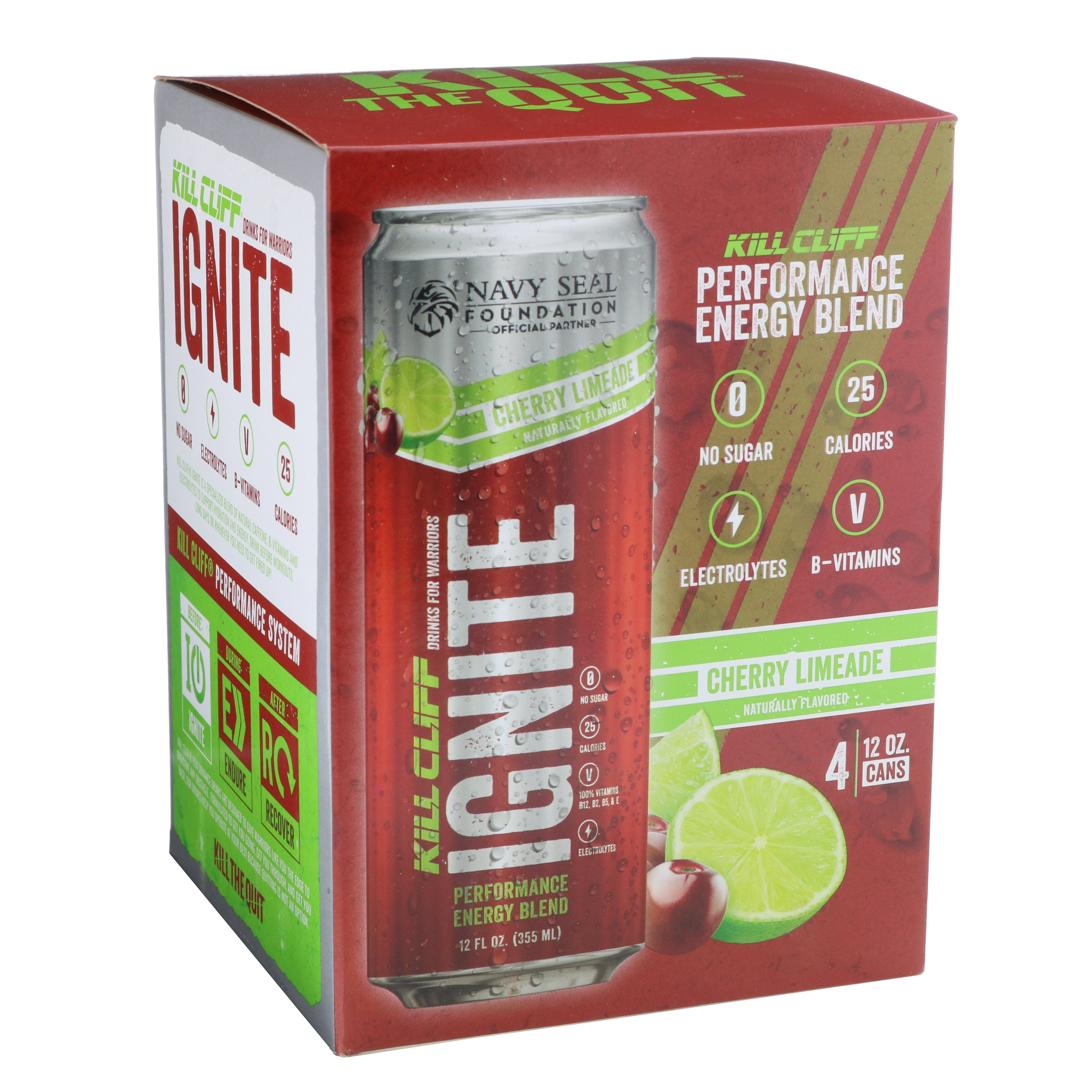 Kill Cliff Ignite Cherry Limeade Energy Drink 4 Pk Shop Diet Fitness At H E B