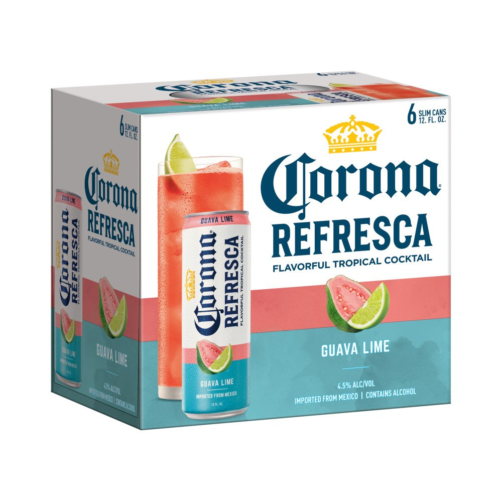 Corona Refresca Guava Lime Spiked Tropical Cocktail 12 Oz Cans Shop Malt Beverages Coolers At H E B
