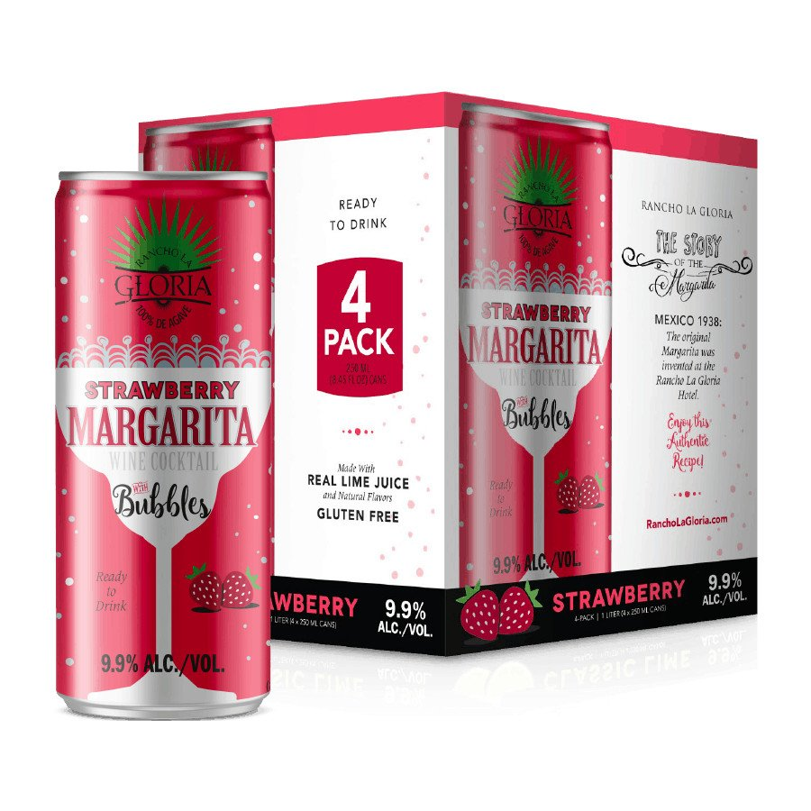 Rancho La Gloria Strawberry Margarita Wine Cocktail 250 Ml Cans Shop Malt Beverages Coolers At H E B