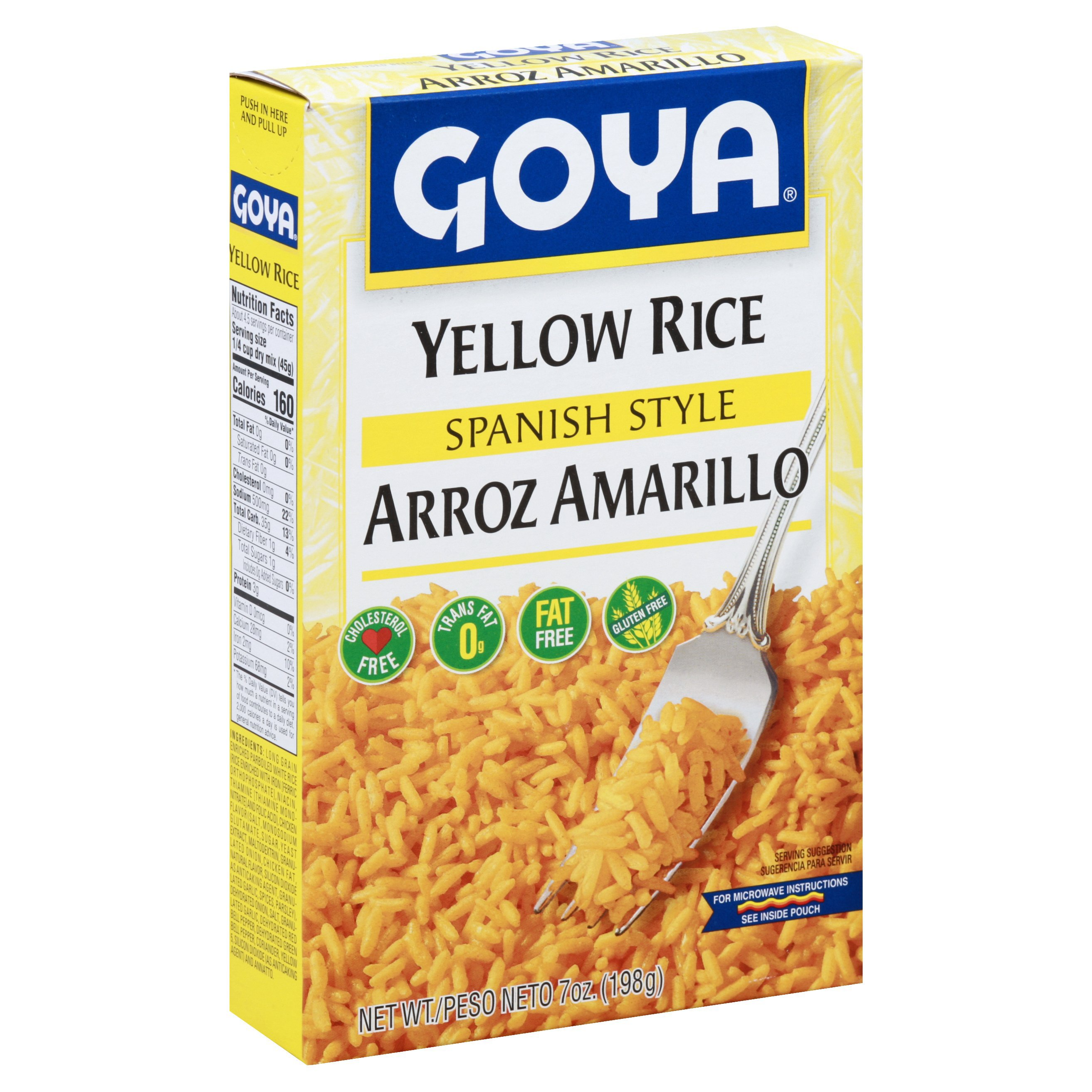 Goya Spanish Style Yellow Rice Shop Rice Grains At H E B