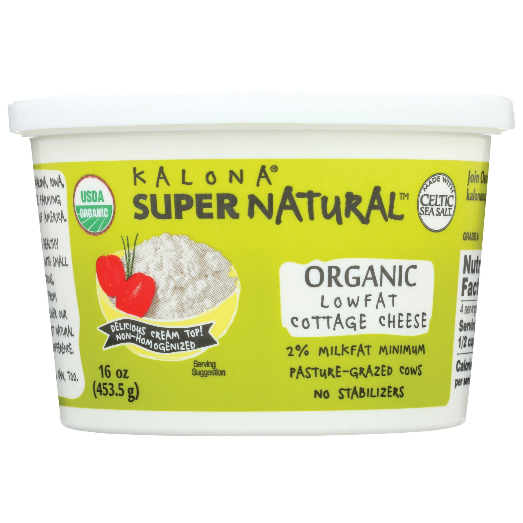 Kalona Supernatural Organic Lowfat Cottage Cheese Shop Cottage Cheese At H E B