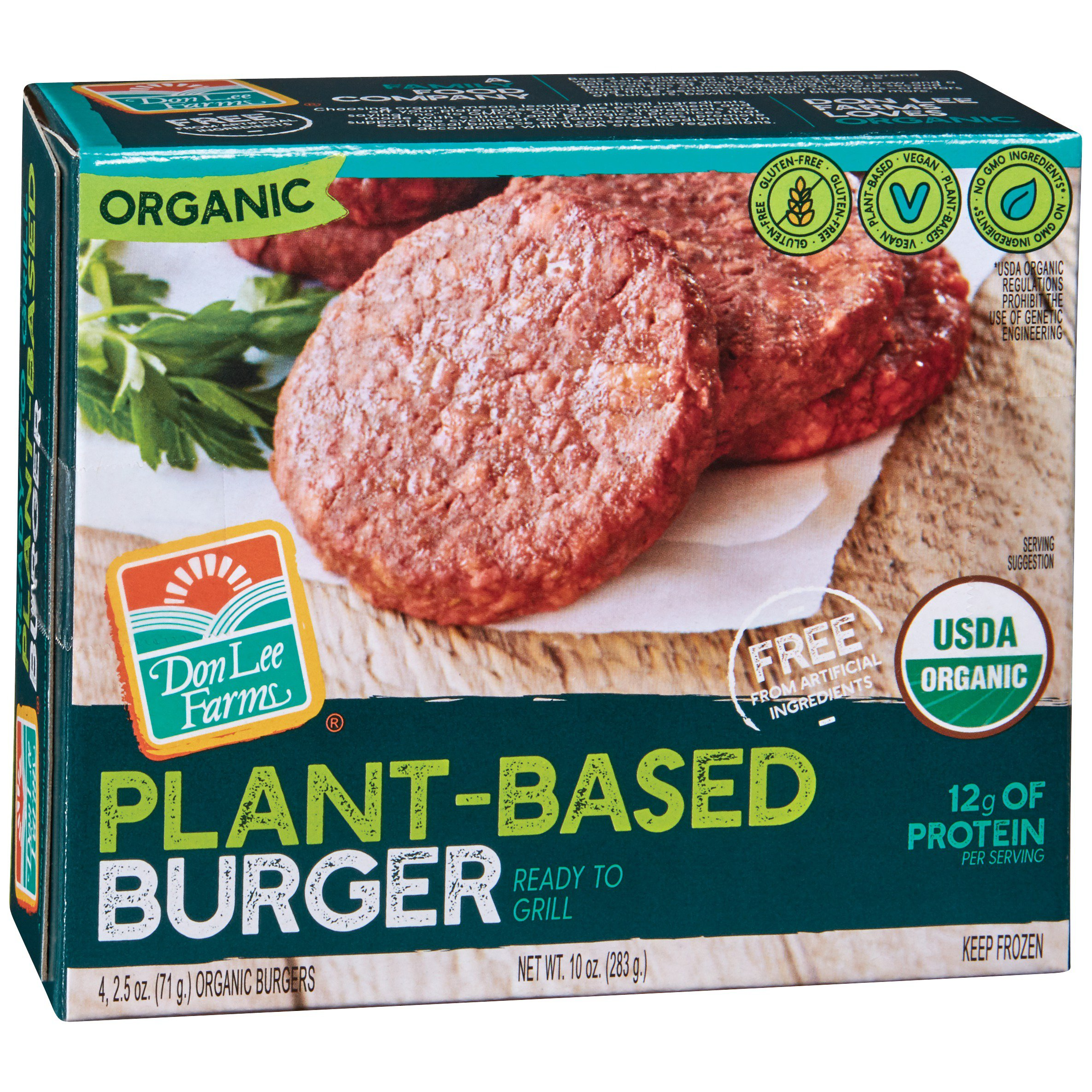 Don Lee Farms Ready To Grill Plant Based Burger Shop Meat Alternatives At H E B