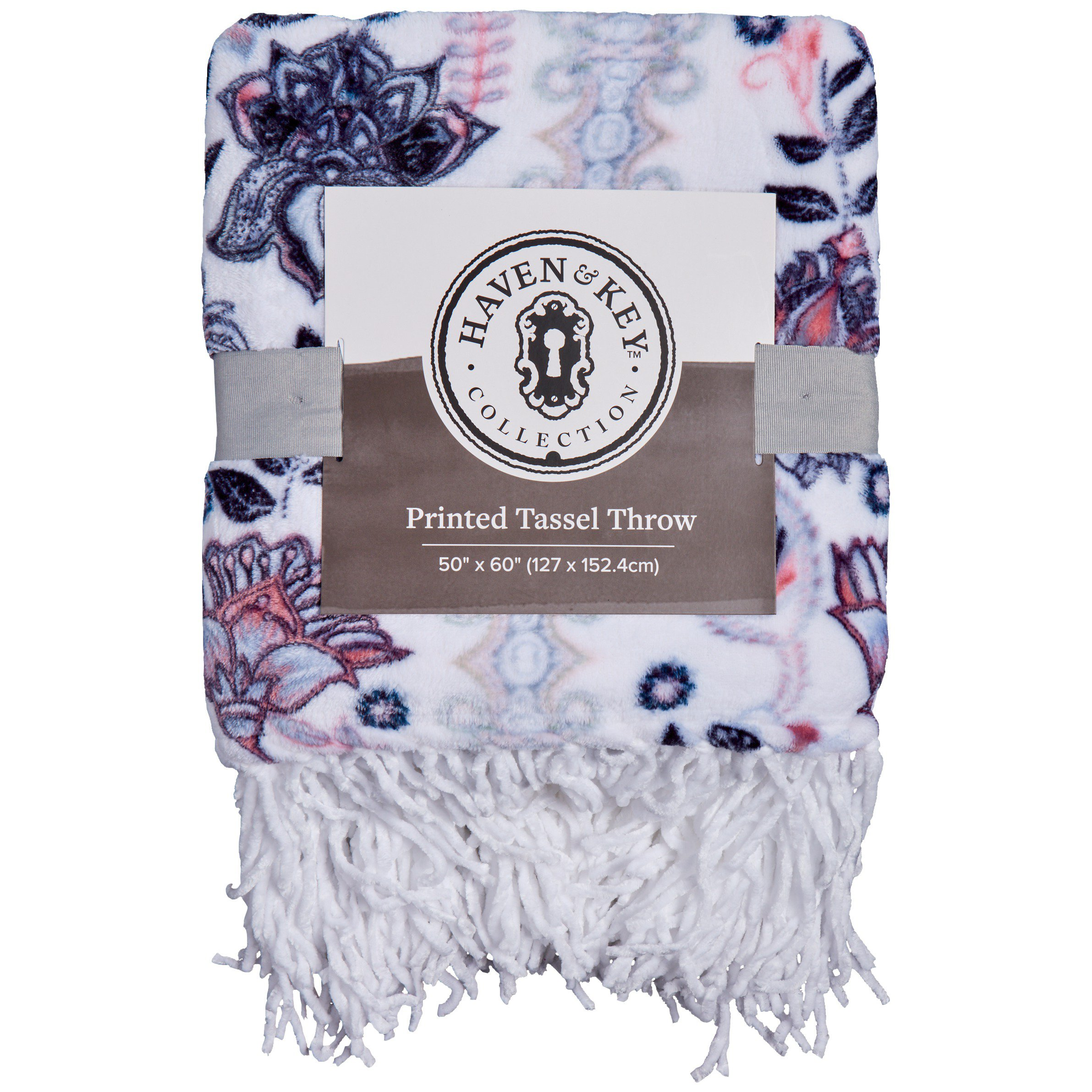 Haven Key Paisley Stripe Floral Tassel Throw Shop Blankets Throws At H E B