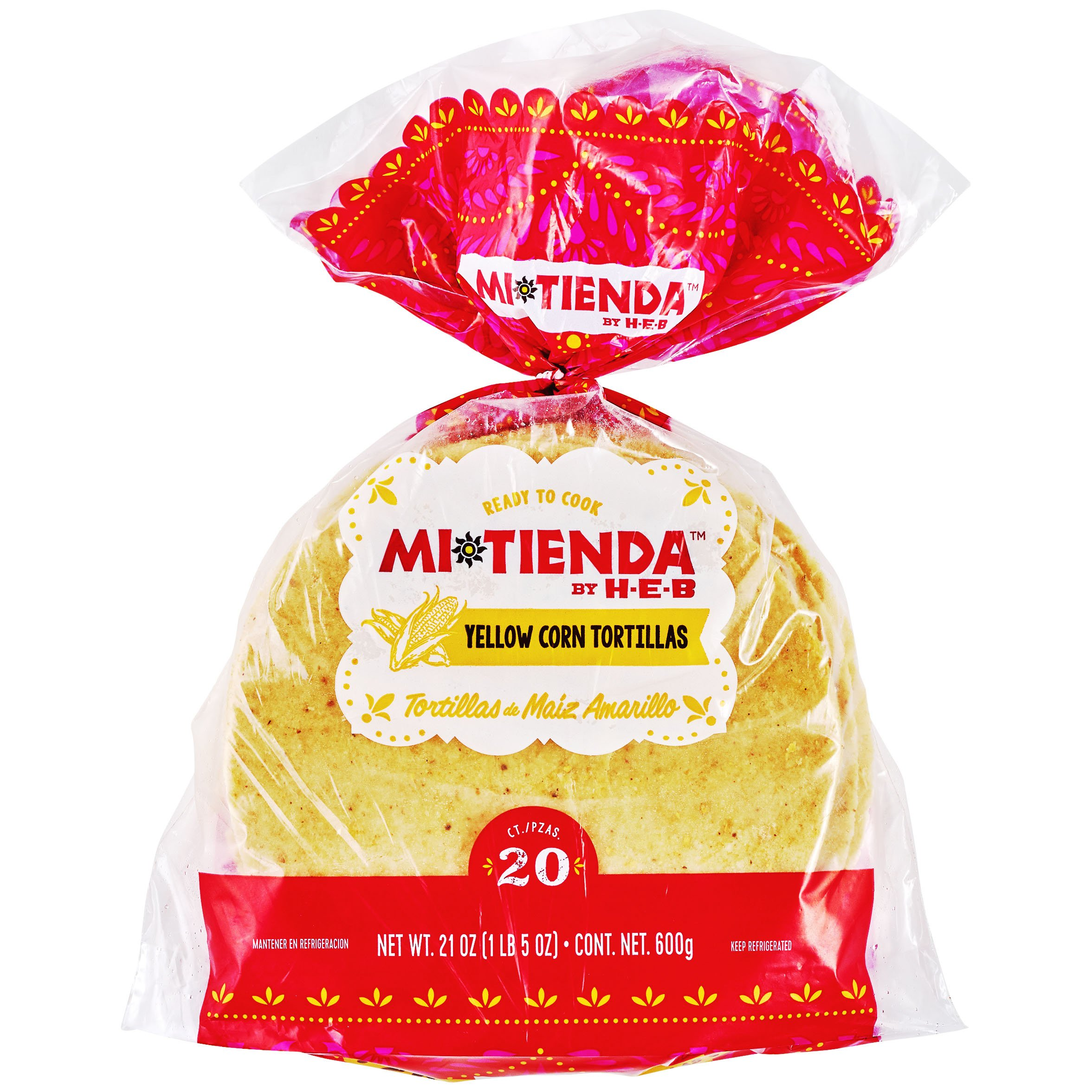 H E B Mi Tienda Ready To Cook Yellow Corn Tortillas Shop Tortillas At H E B