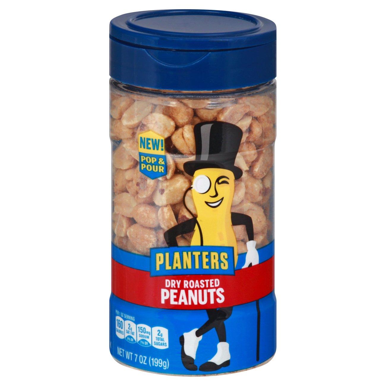 Planters Pop & Pour Dry Roasted Peanuts