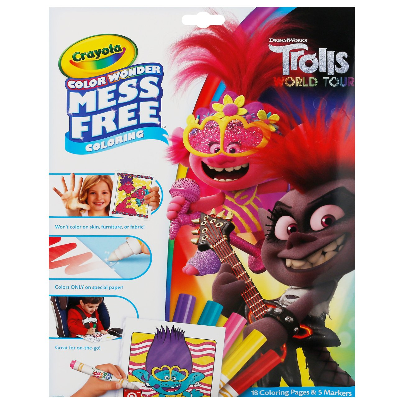Crayola Color Wonder Mess Free Trolls World Tour Coloring Pages