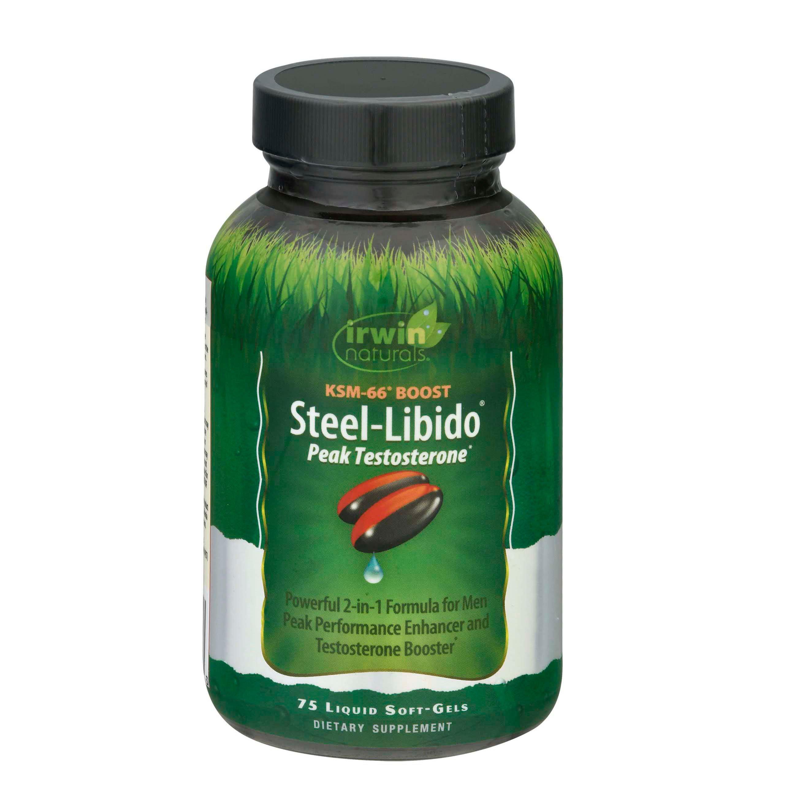 Irwin Naturals Steel Libido Peak Testosterone Softgels - Shop Diet & Fitness at H-E-B