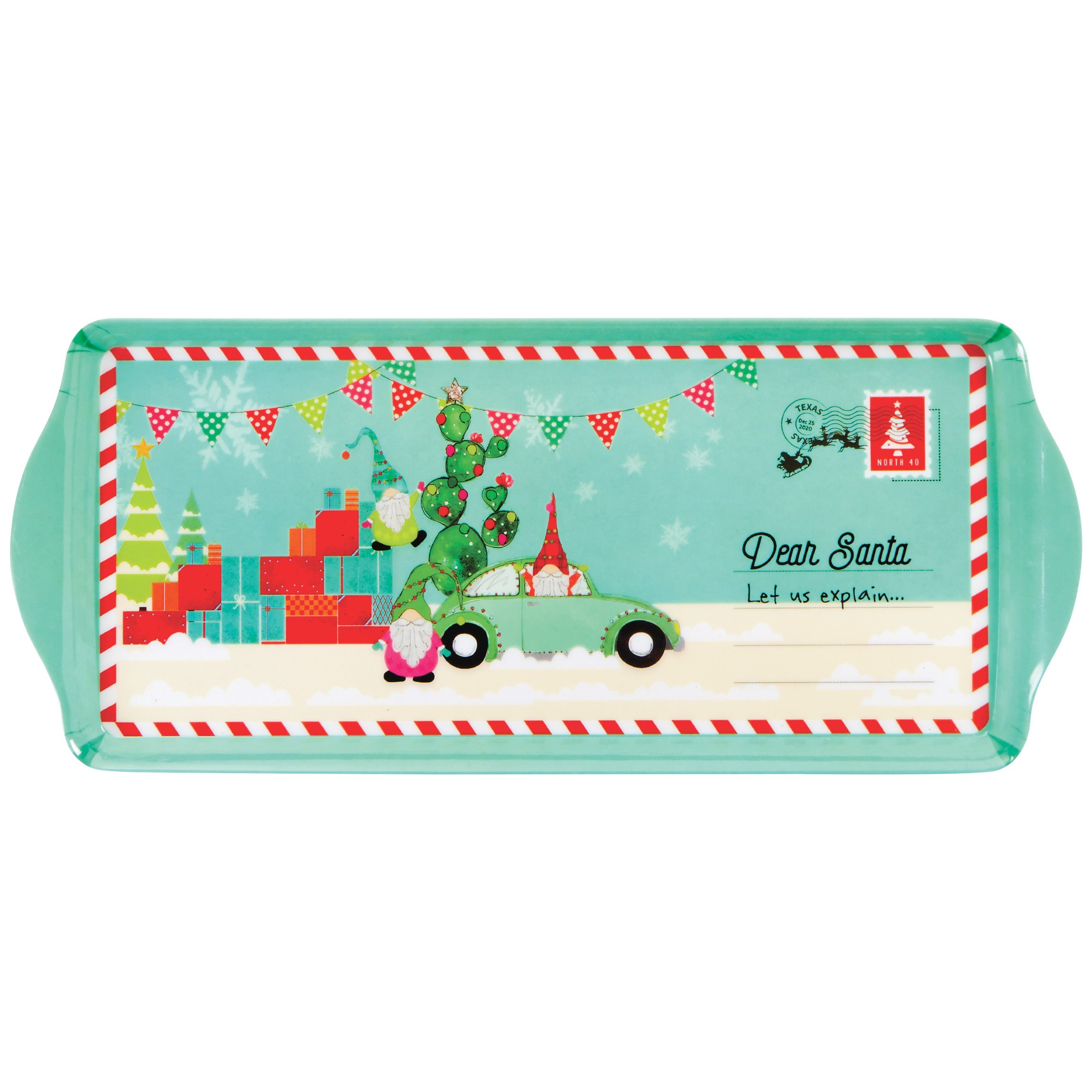Thirty Fourth Main Dear Santa Christmas Melamine Serving Tray Shop Dishes At H E B