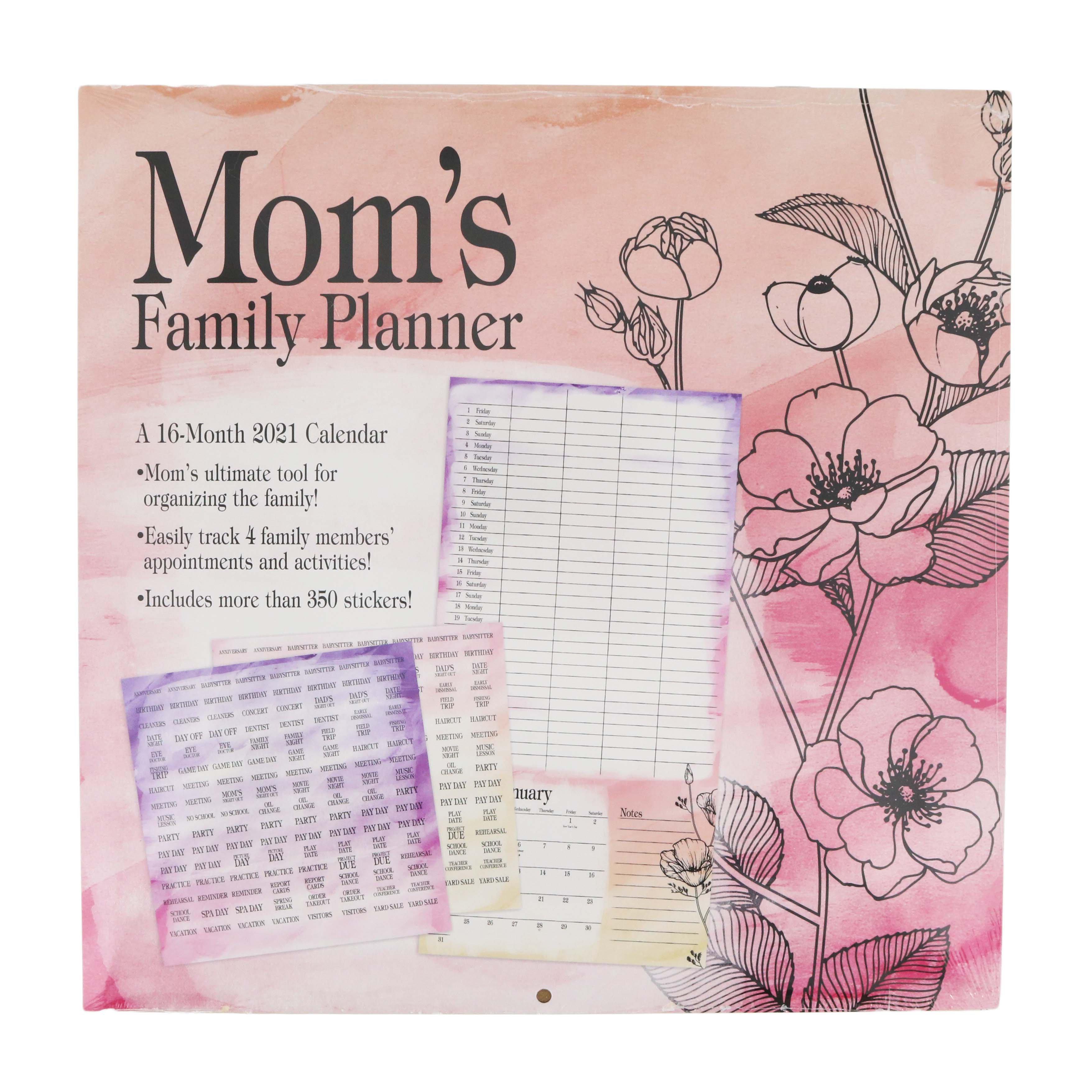 Trends International Mom's Family Planner 2021 Wall ...