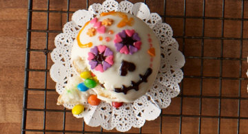 day of the dead confetti cupcakes - Gourmet Halloween Recipes