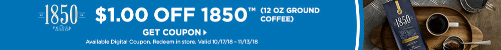 $1.00 Off 1850 Coffee, Assorted Varieties