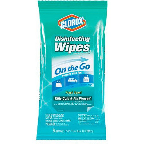 Clorox<sup>&reg;</sup> Fresh Scent Disinfecting Wipes On The Go