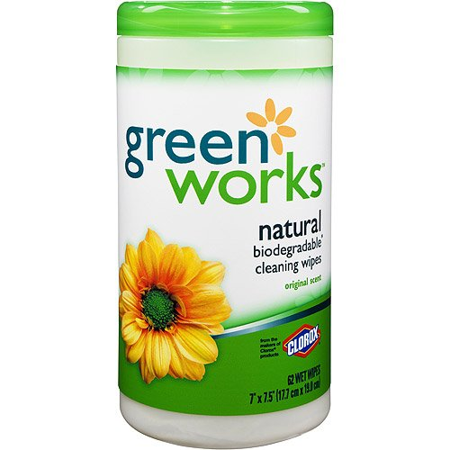 Clorox<sup>&reg;</sup> Green Works Natural Biodegradable Cleaning Wipes