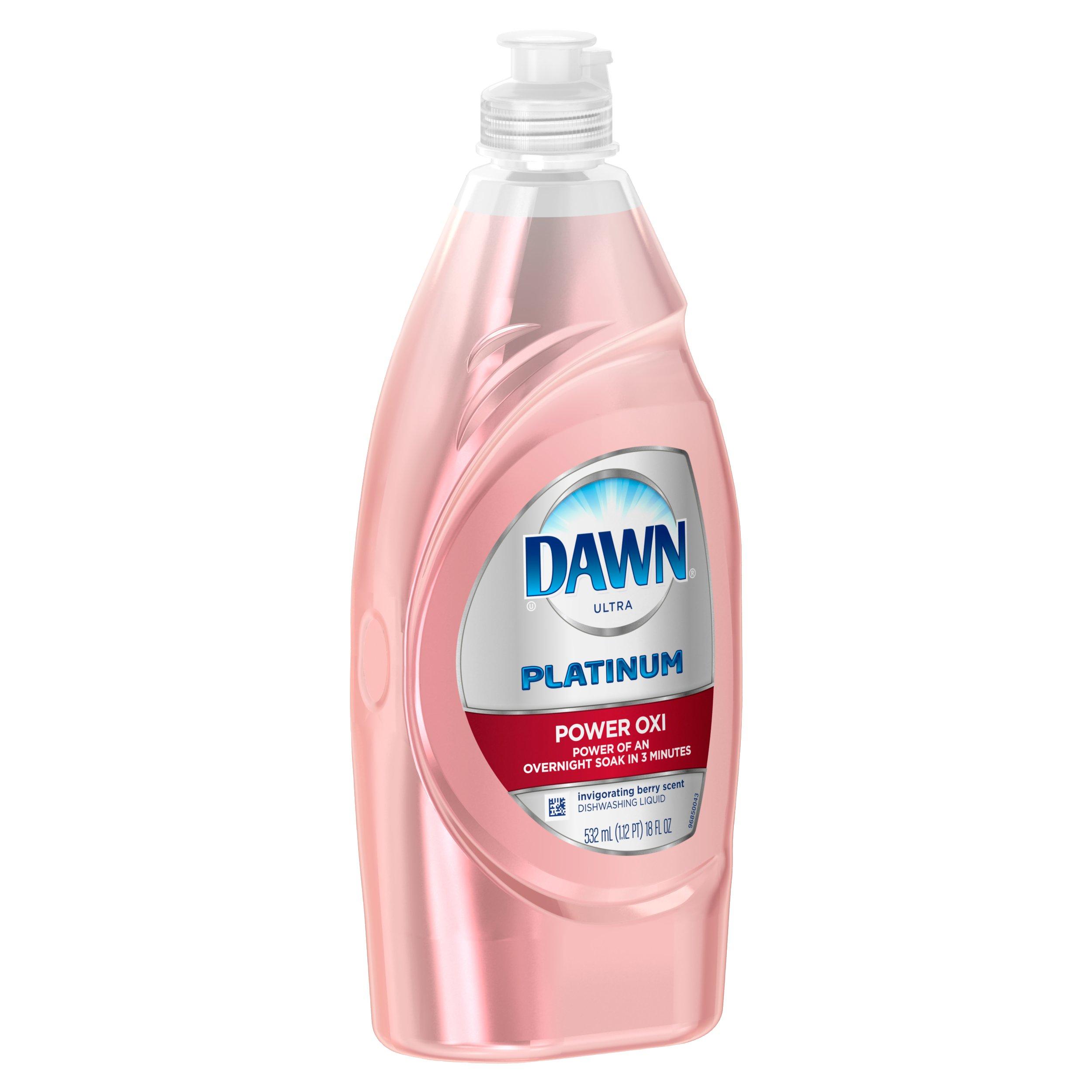 Dawn Platinum Power Oxi Dishwashing Liquid, Invigorating Berry